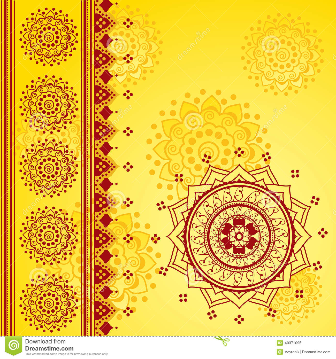 Yellow Indian Background Stock Vector  Image 40371095