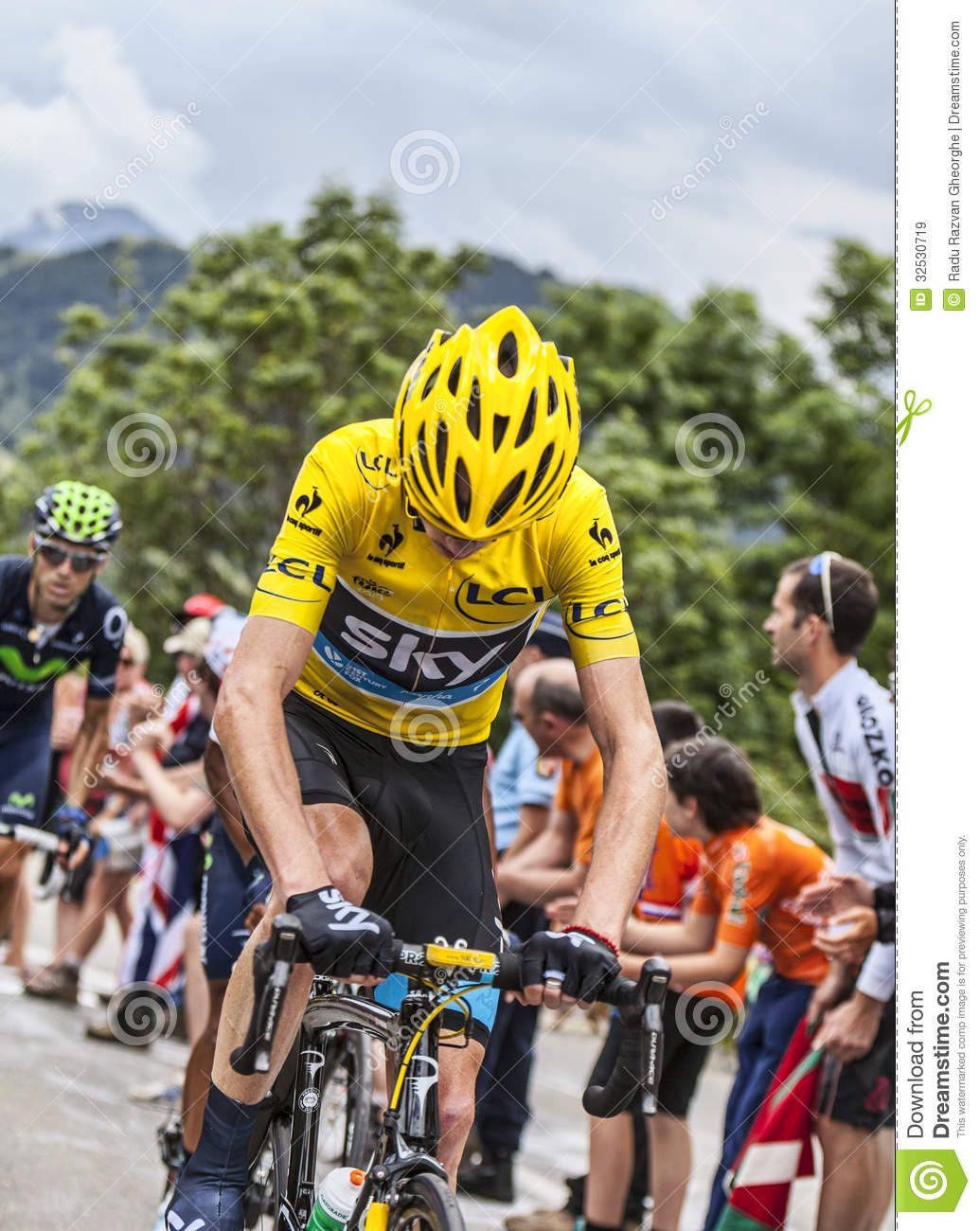Yellow Jersey On Alpe D Huez Editorial Stock Image - Image of ... 98a924e14