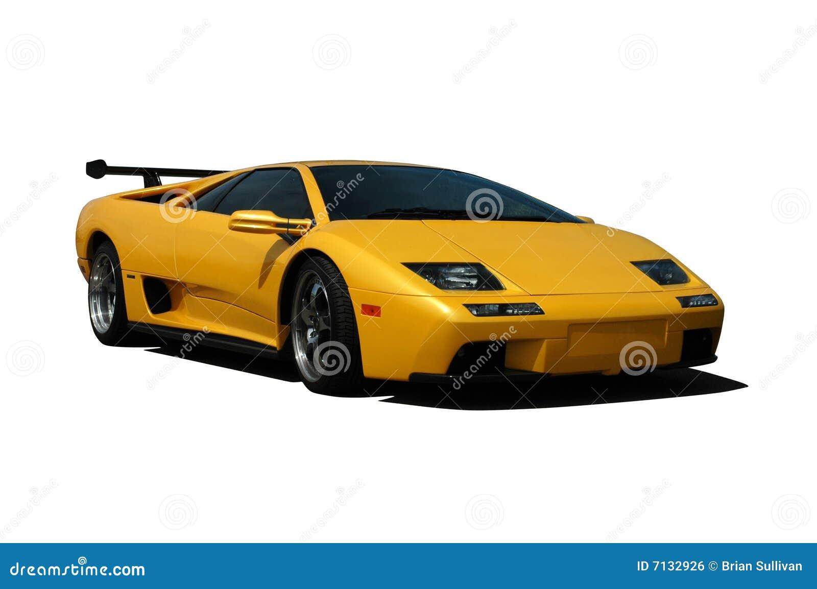 Yellow Lamborghini Stock Photo Image Of Tire European 7132926