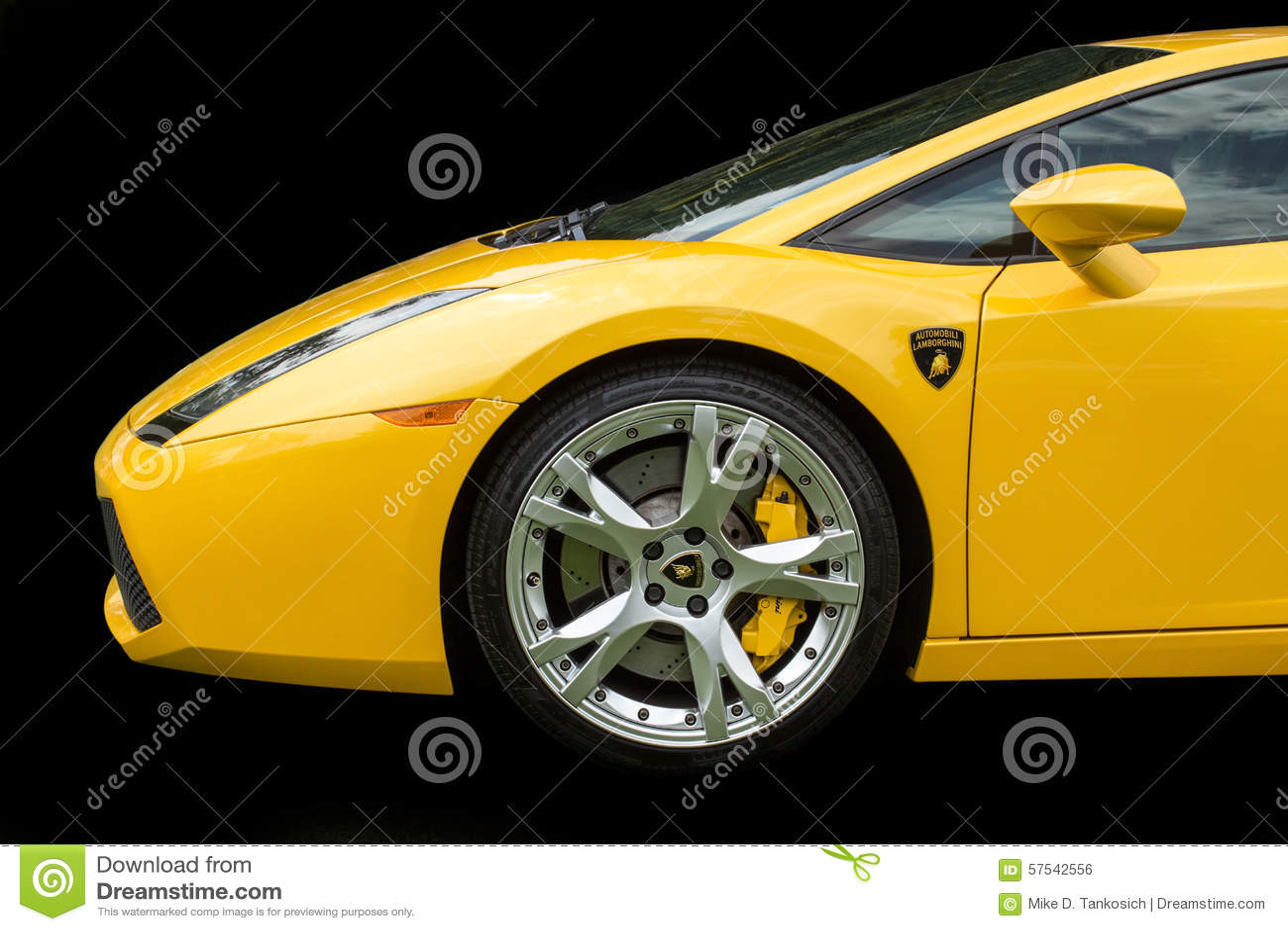 Yellow Lamborghini On Black Editorial Photo Image Of Rich Agile