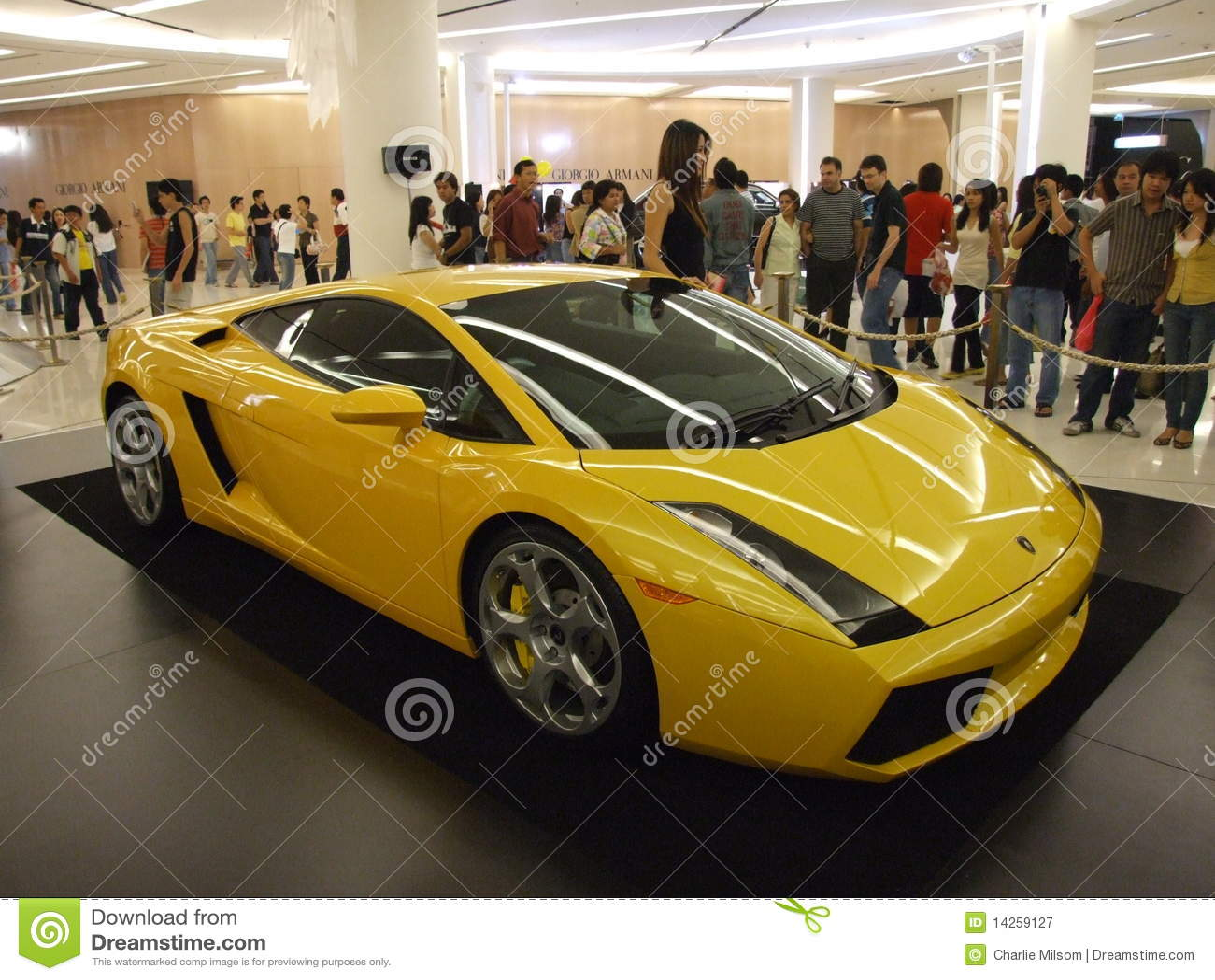 Yellow Lamborghini On Display In Bangkok Editorial Photography Image Of Interior Isolated 14259127