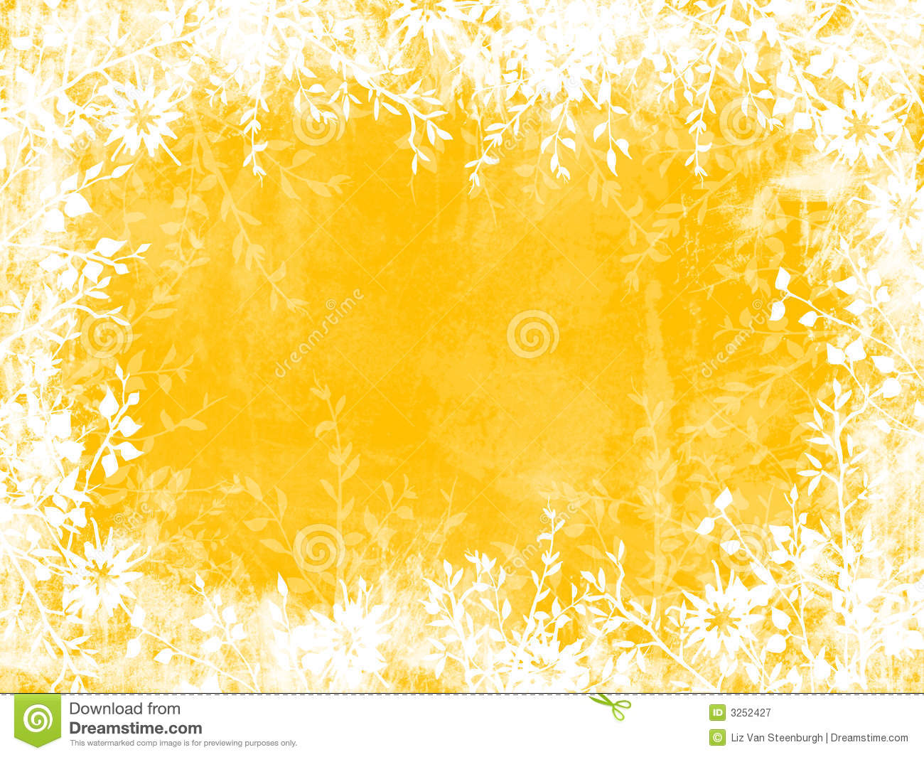 Yellow Flower Border Yellow leaf border