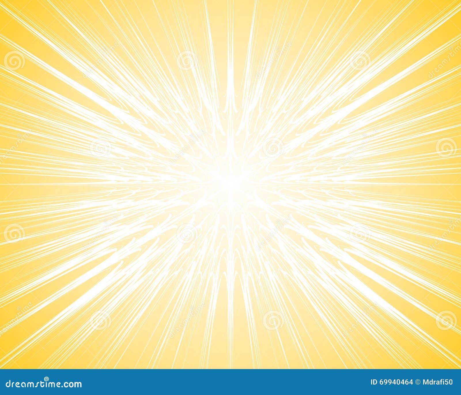Yellow Light Ray Burst Background Stock Vector - Illustration of ... for Yellow Light Rays Background  110zmd