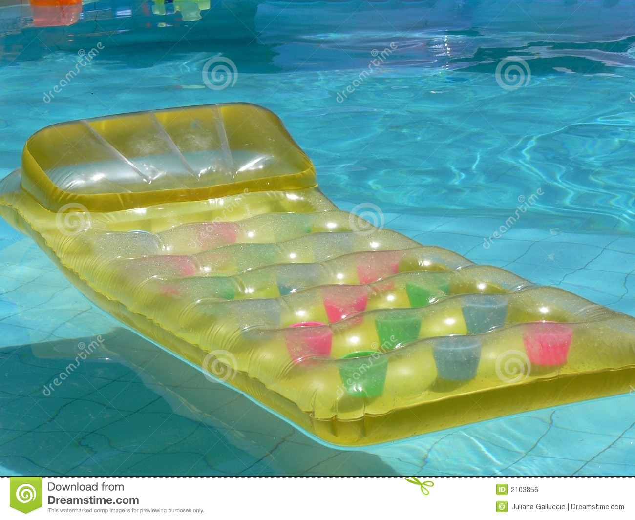 Yellow lilo stock photo  Image of empty, relax, float - 2103856
