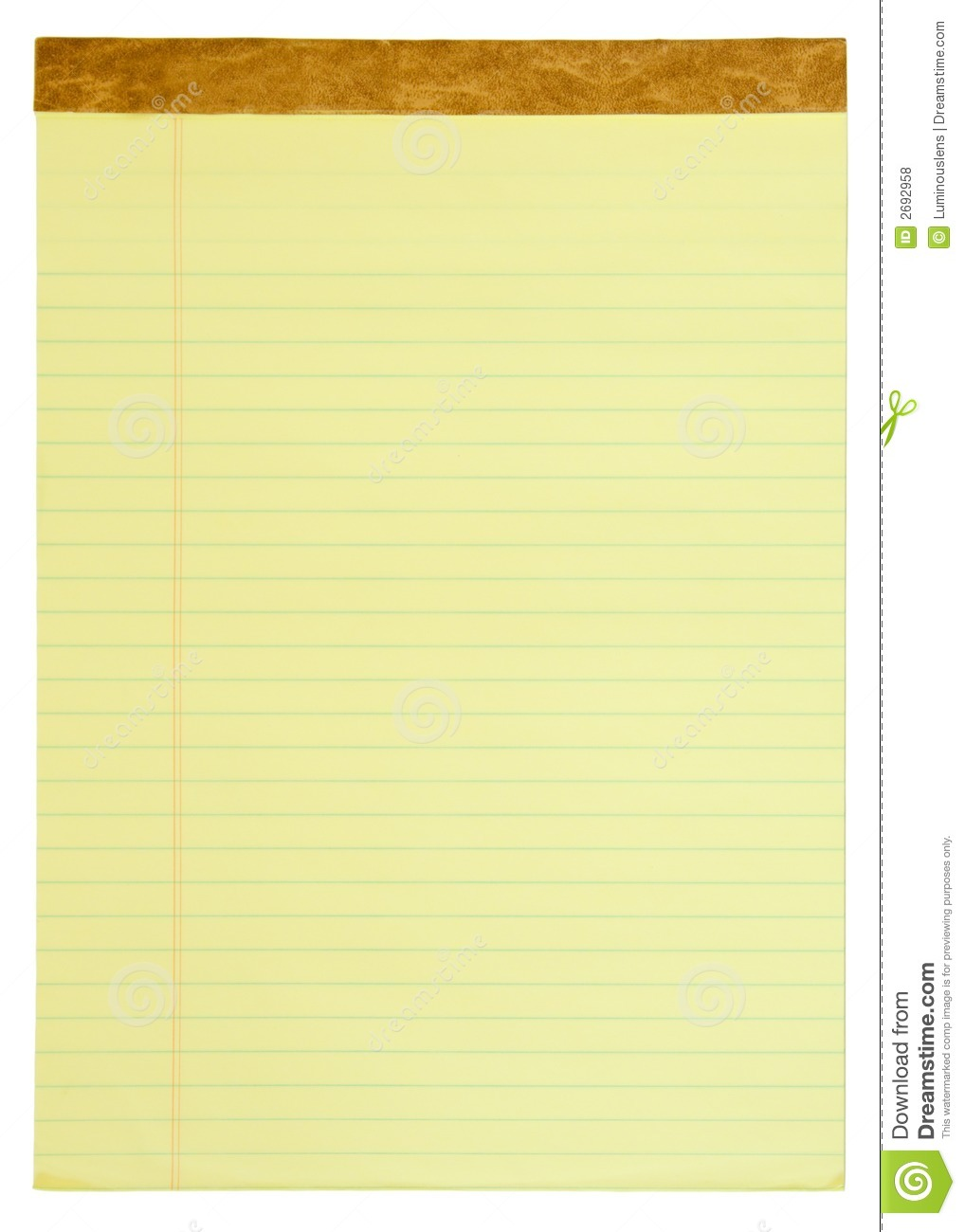 Yellow Lined Legal Pad Royalty Free Stock Photos - Image: 2692958