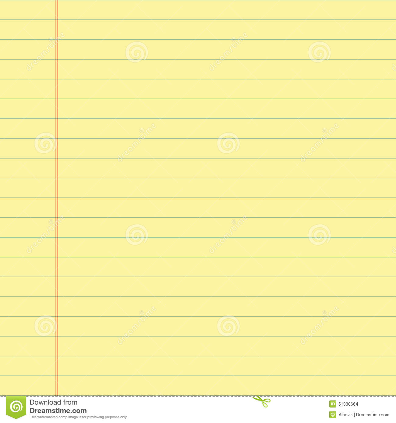 Yellow Lined Paper  Download Lined Paper
