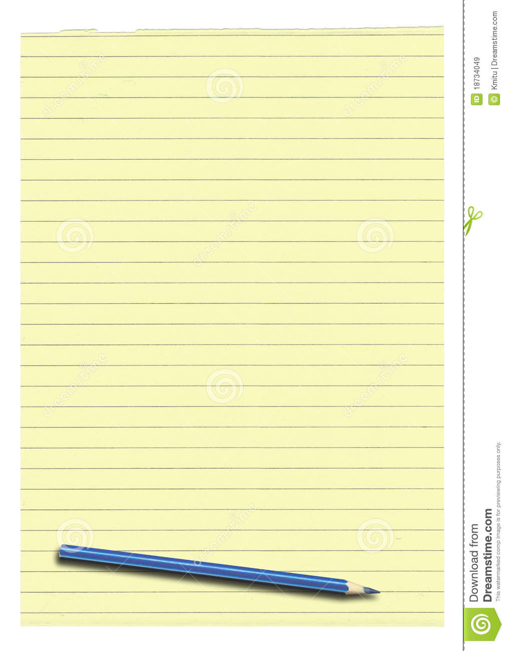 Yellow Lined Paper And Pencil Stock Image Image 18734049 Yellow Lined Paper  Pencil 18734049 Royalty Free  Download Lined Paper