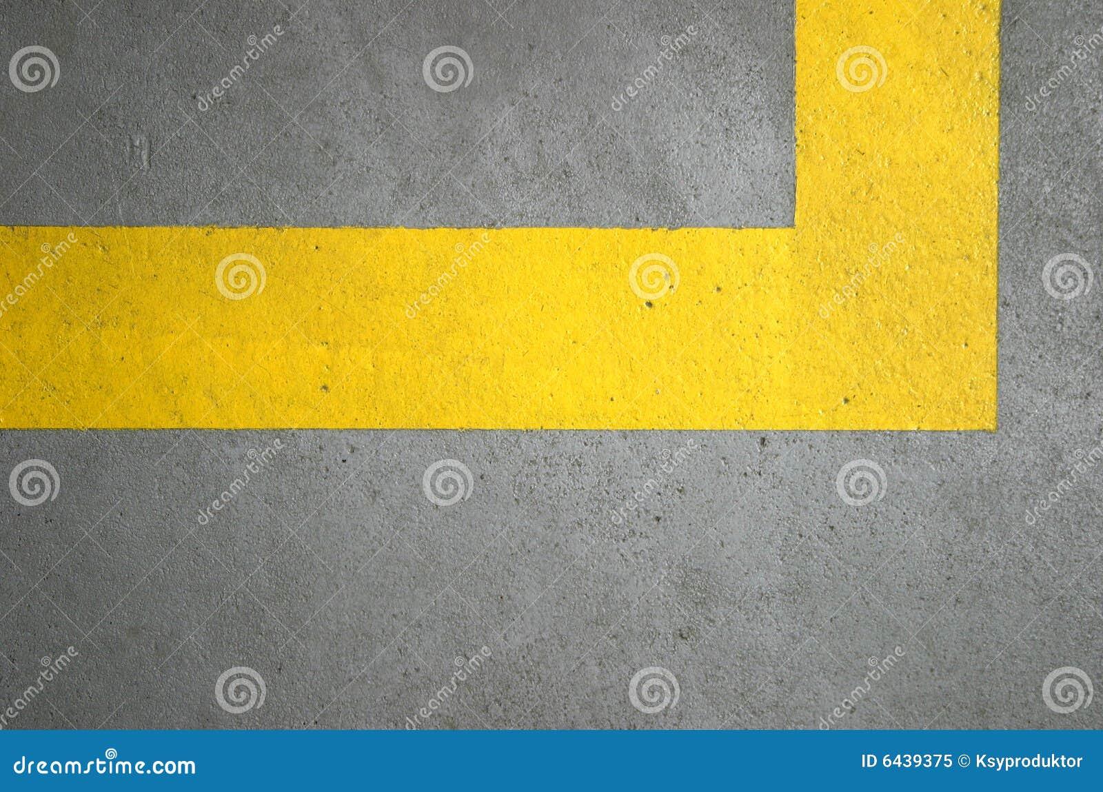 Yellow Lines On Concrete Floor Royalty Free Stock Photo