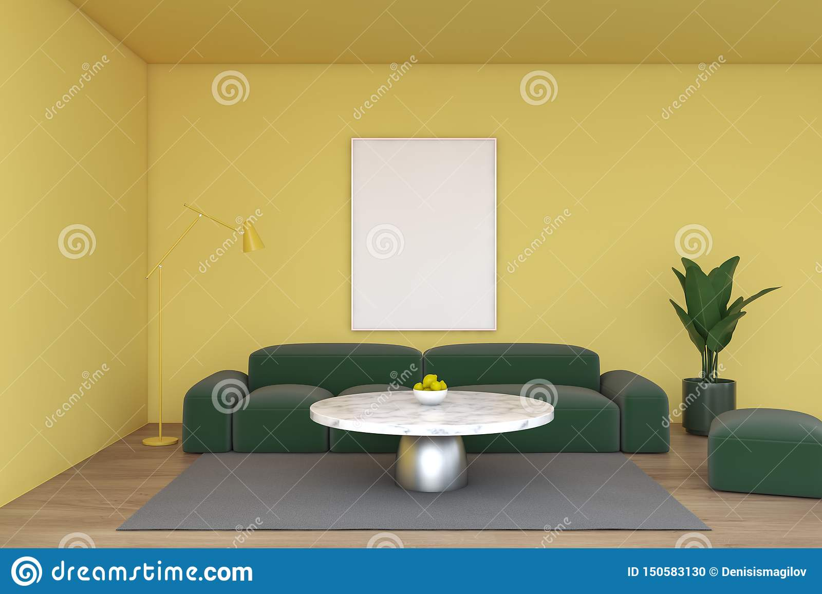 Yellow Living Room Green Sofa And Poster Stock Illustration Illustration Of Interior Living 150583130,Teenager Easy Simple Mehndi Designs For Kids Front Hand