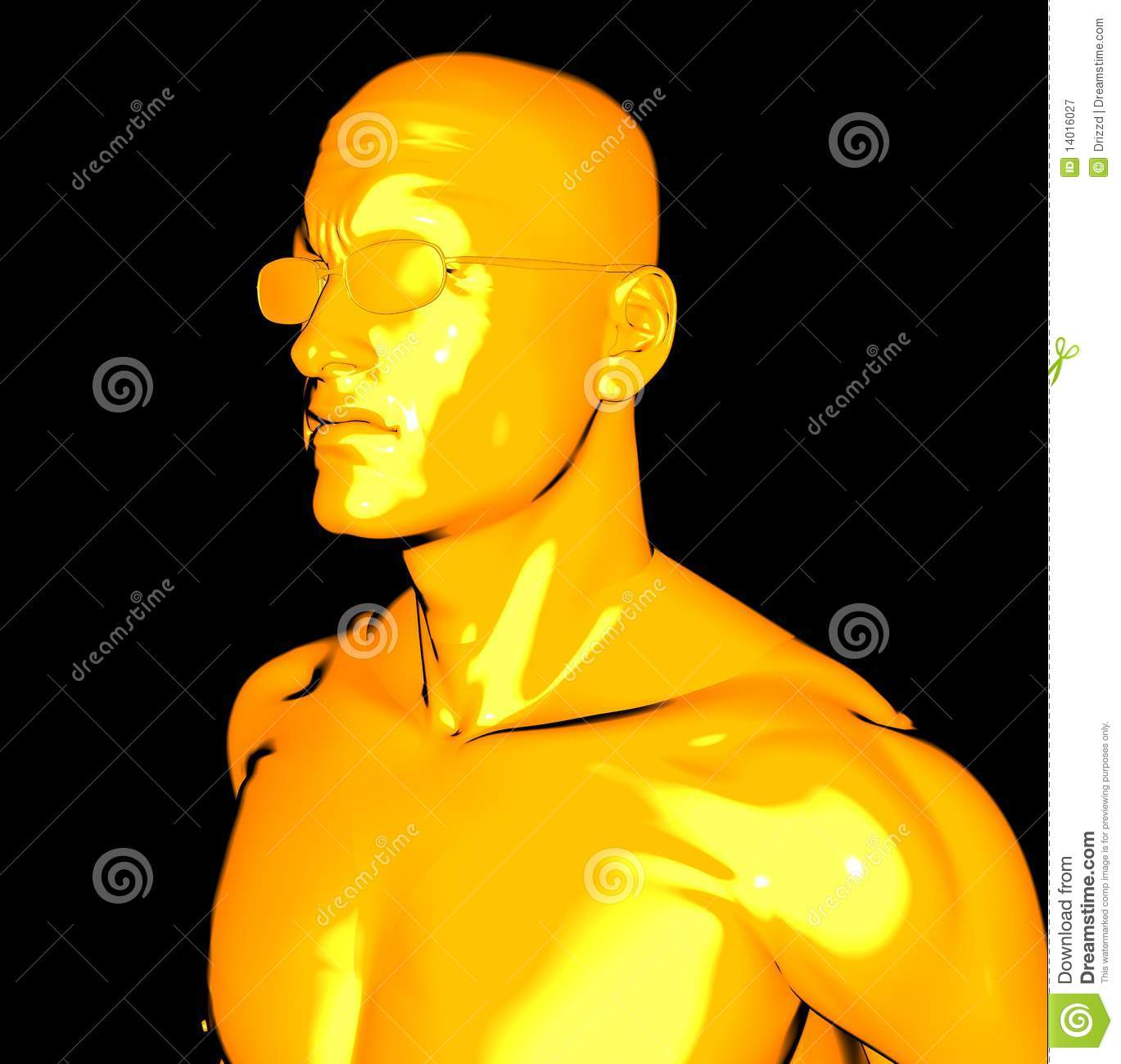 Yellow Man Royalty Free Stock Photography - Image: 14016027