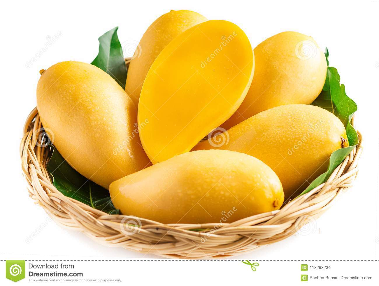 100% top quality reputable site quality products Yellow Mango Beautiful Skin In The Basket In White ...