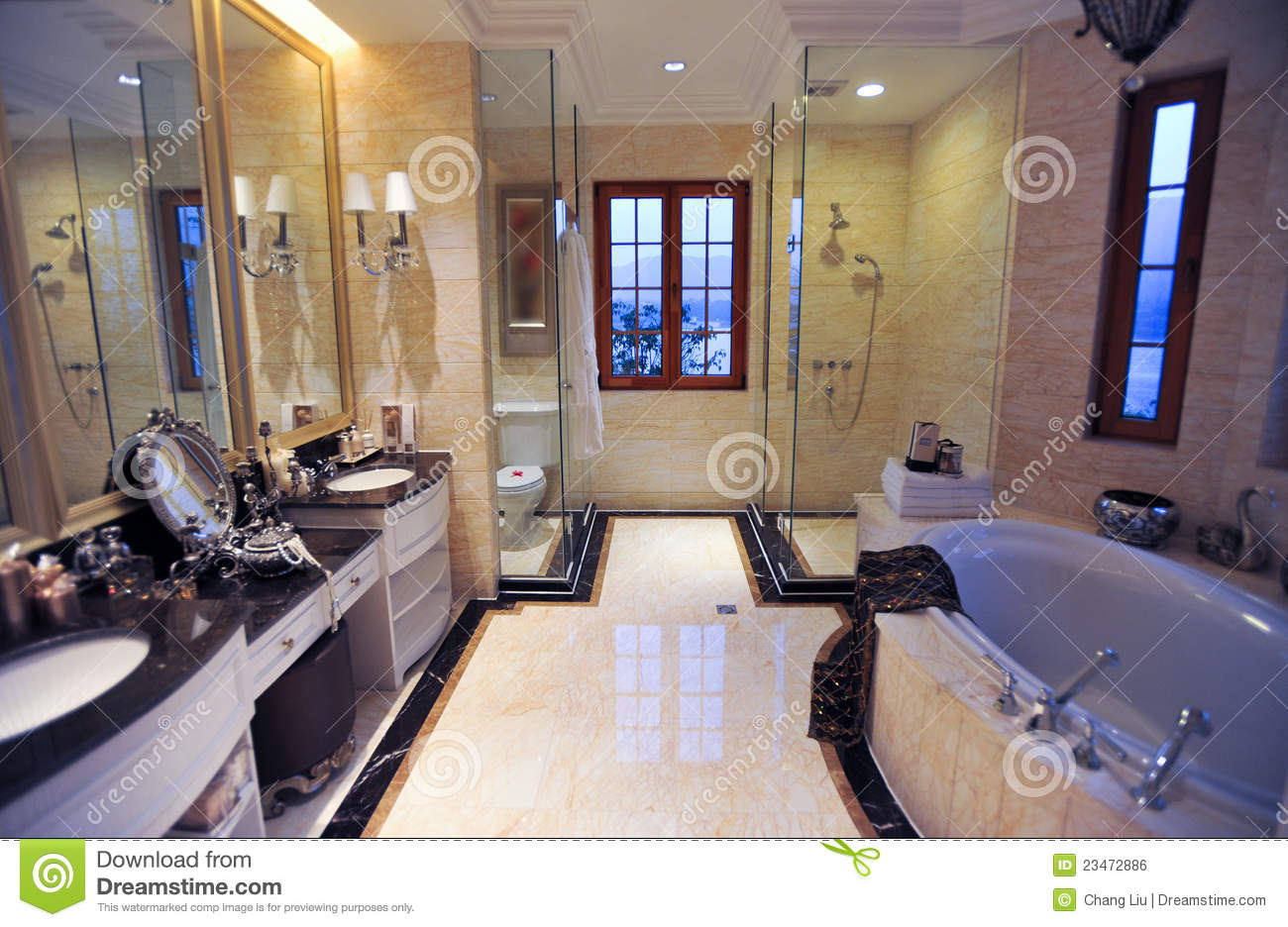 Yellow Marble Bathroom Stock Photo Image Of Hotel Apartment 23472886