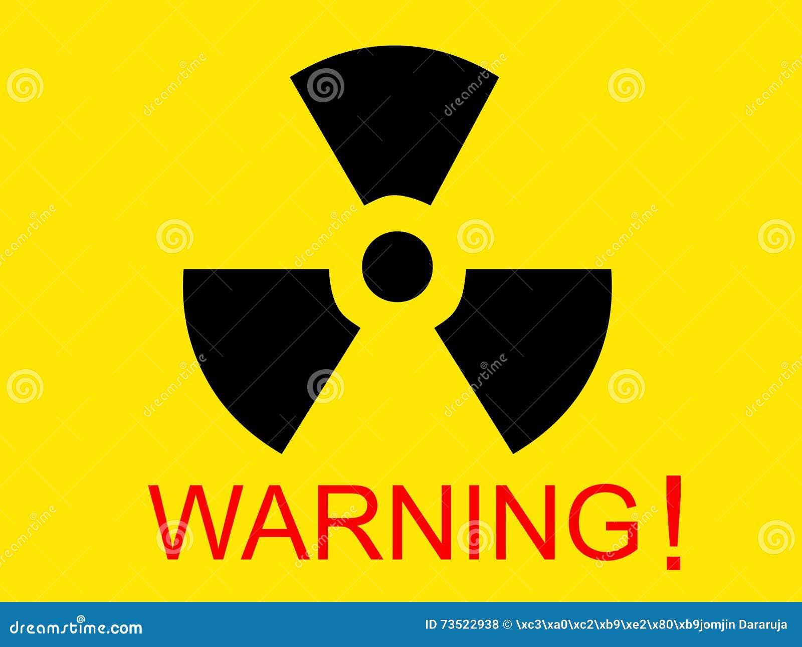 Yellow Medical Radio Symbol With Warning Word Stock Photo Image Of