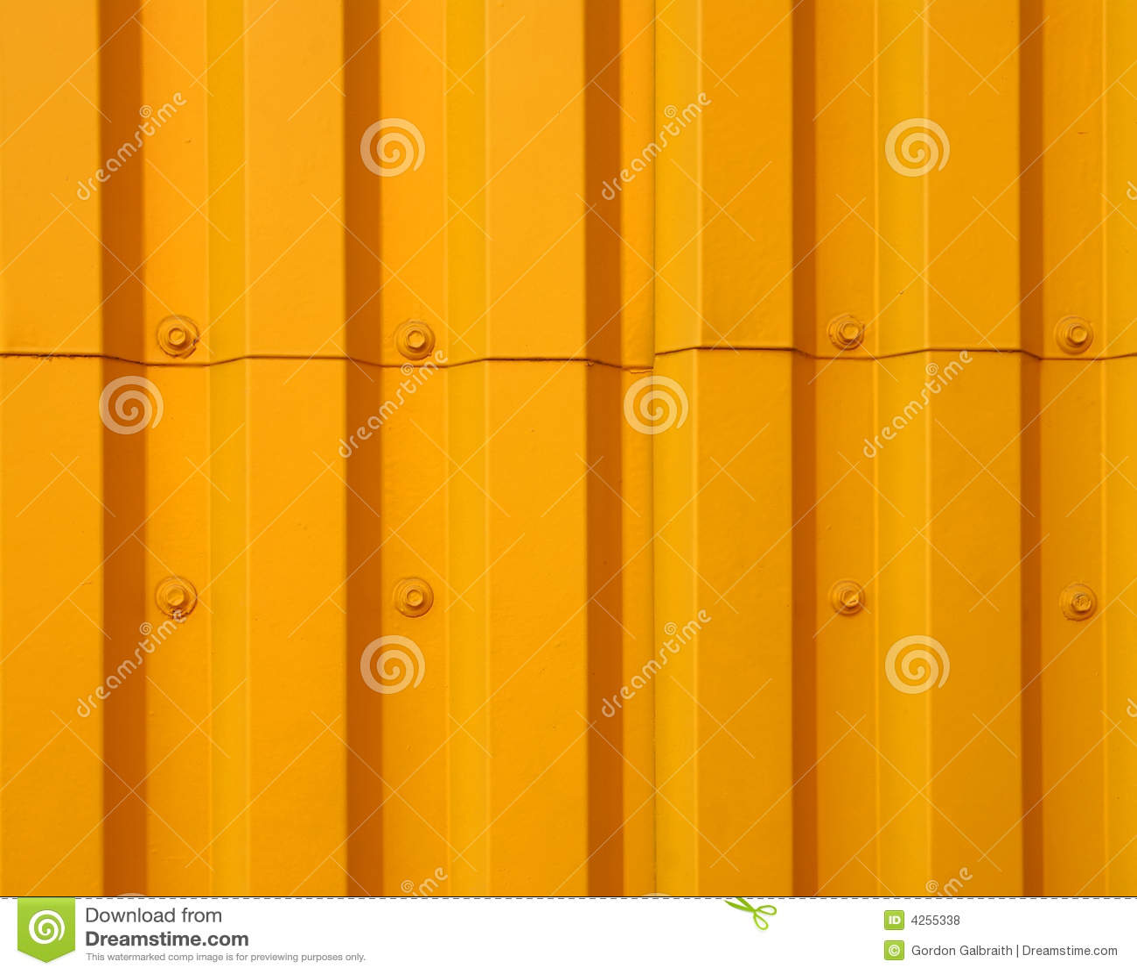 Yellow Metal Siding Royalty Free Stock Photos Image 4255338