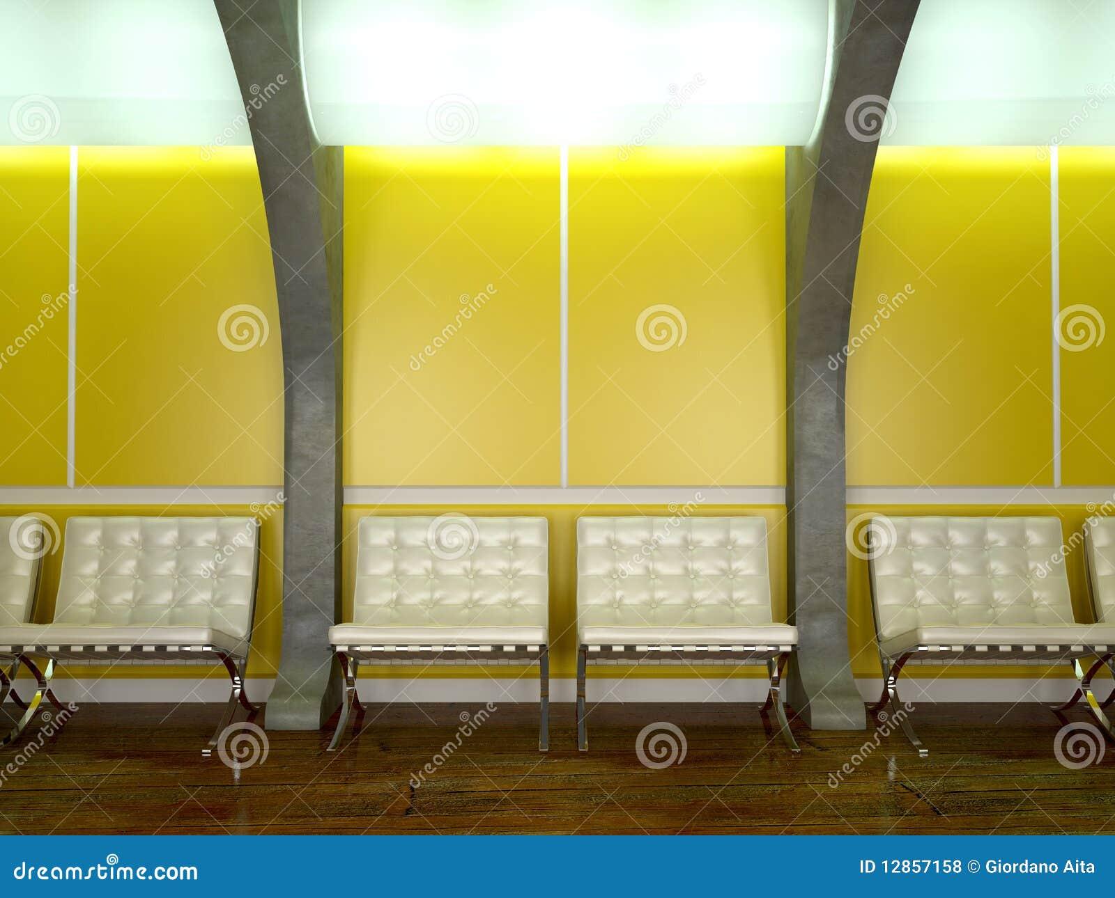 Yellow Modern Interior Royalty Free Stock Photos Image