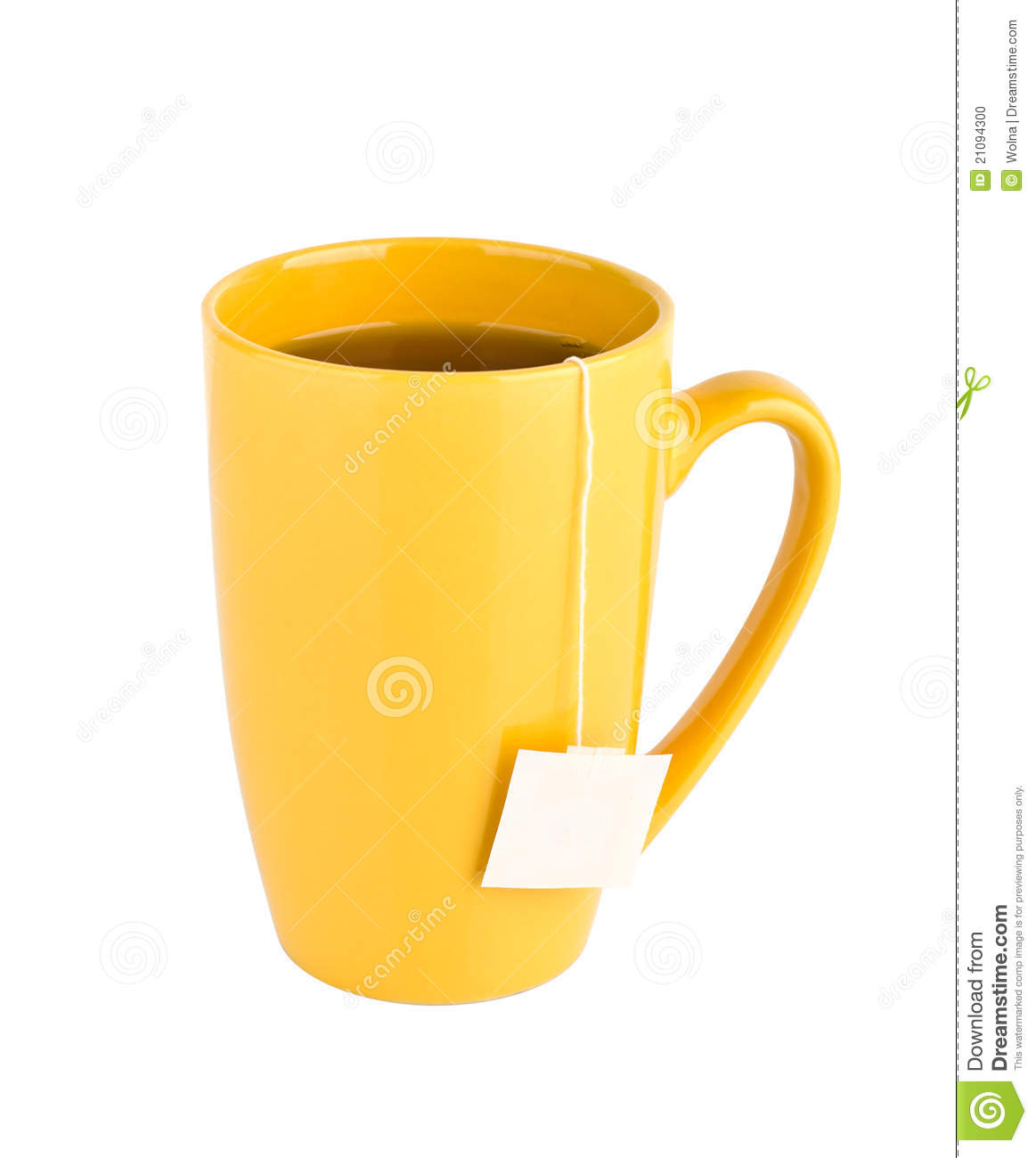 yellow mug of tea isolated on white background stock photo image 21094300. Black Bedroom Furniture Sets. Home Design Ideas