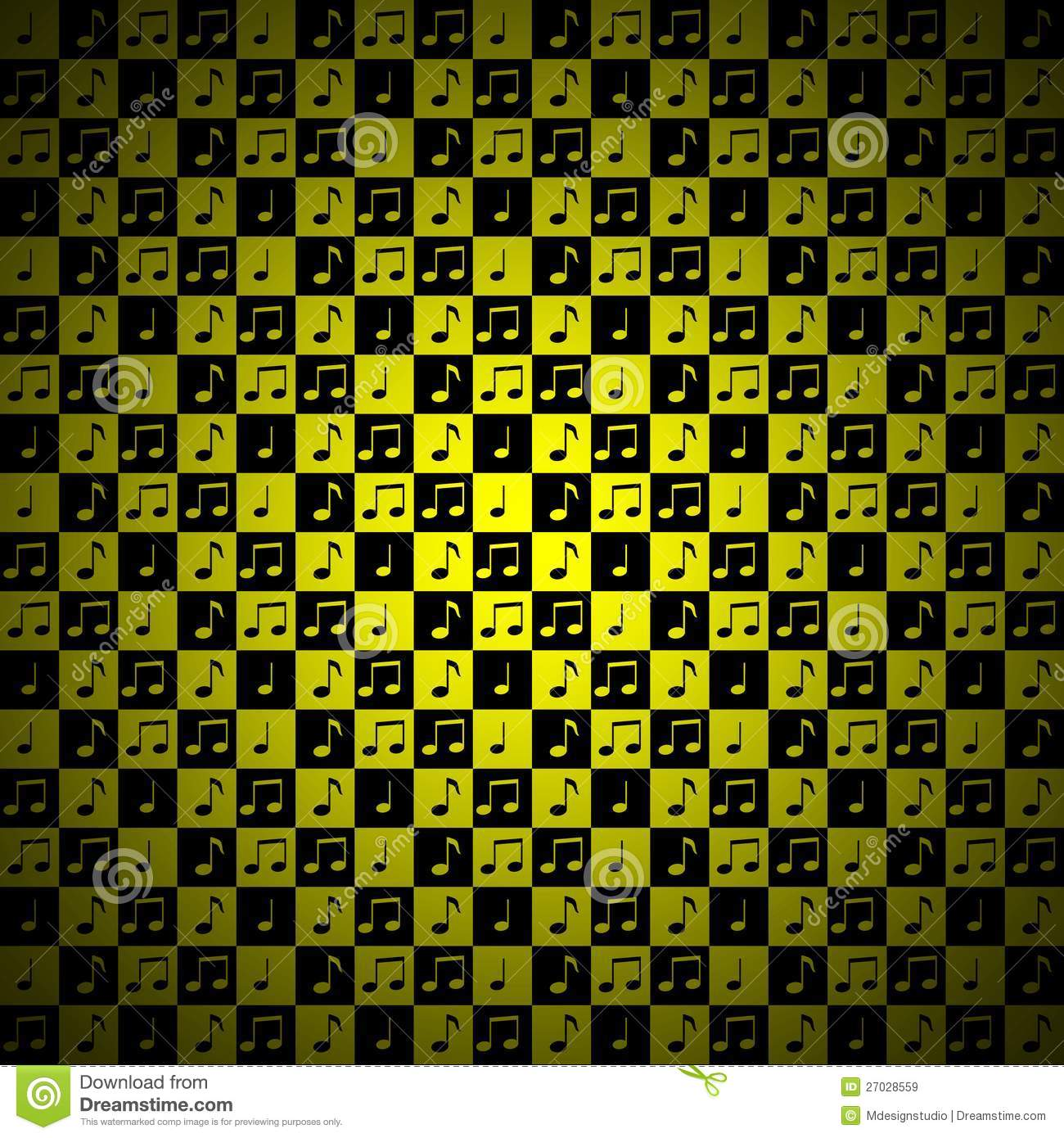 yellow music note background royalty free stock images