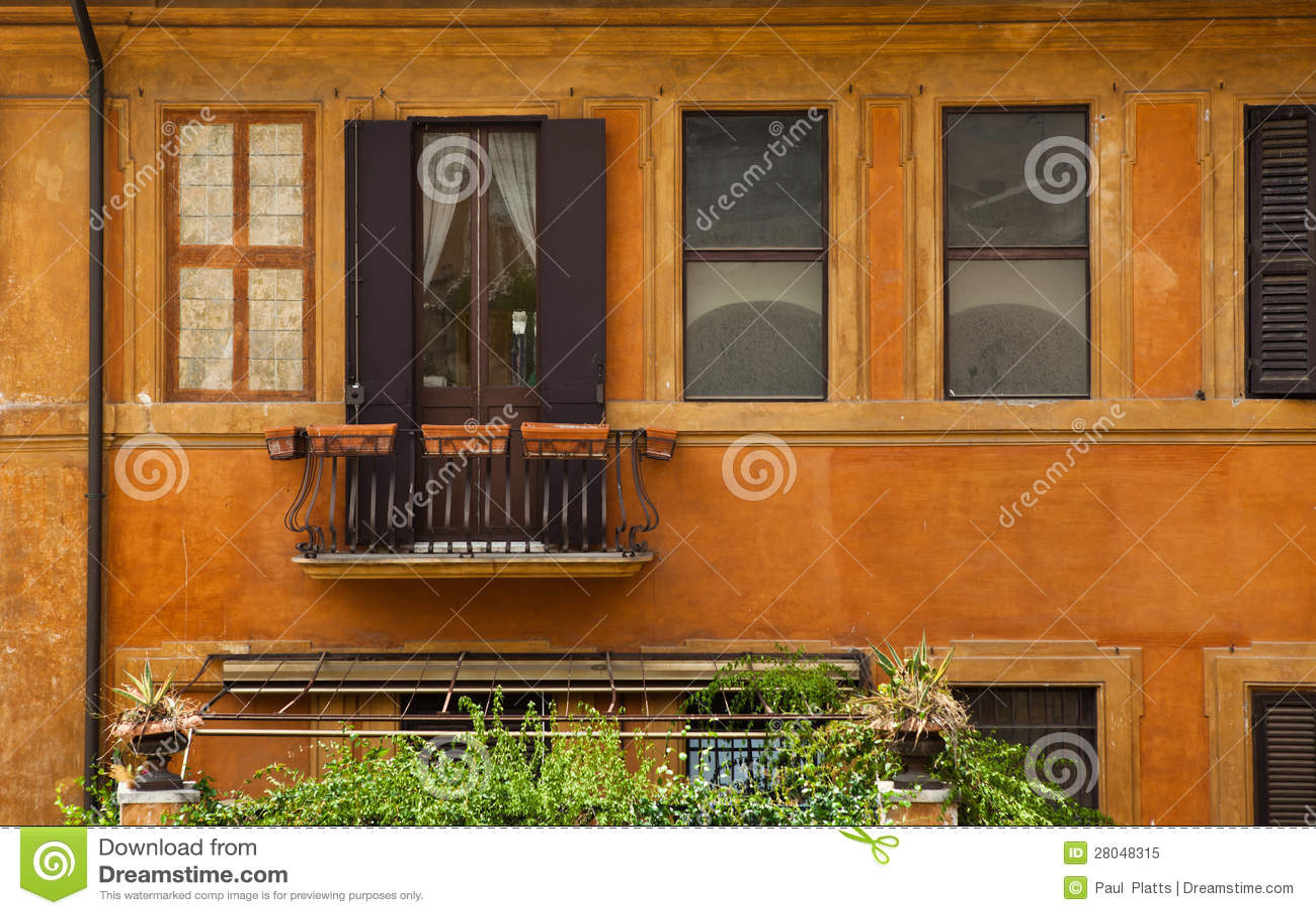 Yellow Ochre House Royalty Free Stock Photo - Image: 28048315