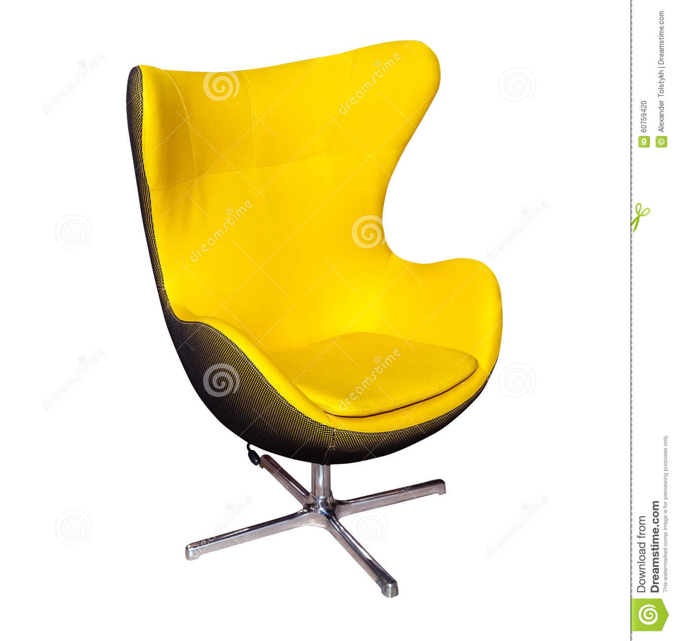 Yellow Office Chair Stock Image Cartoondealer Com 19776277
