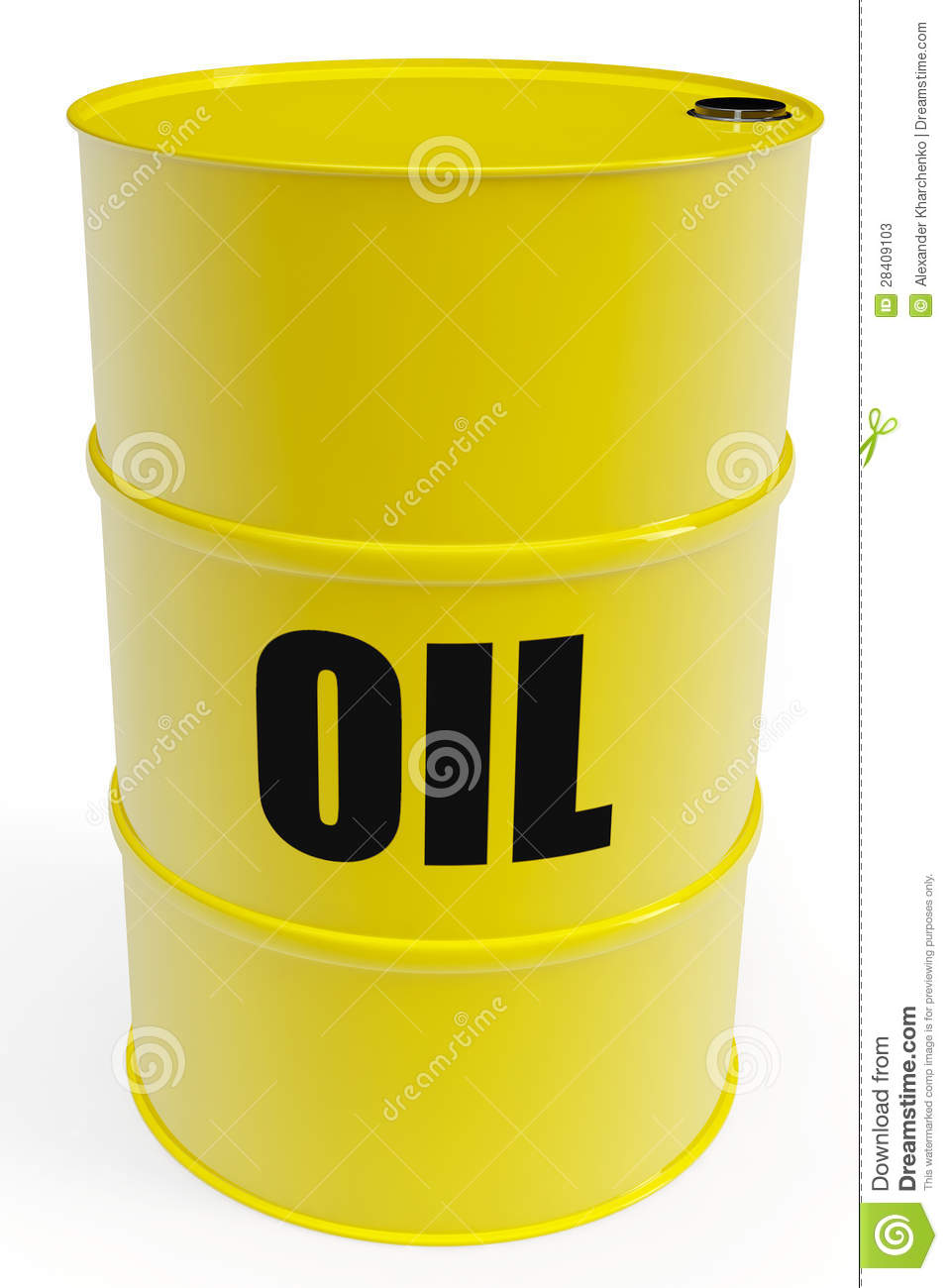 Yellow oil barrel stock illustration image of freight for Motor oil by the barrel