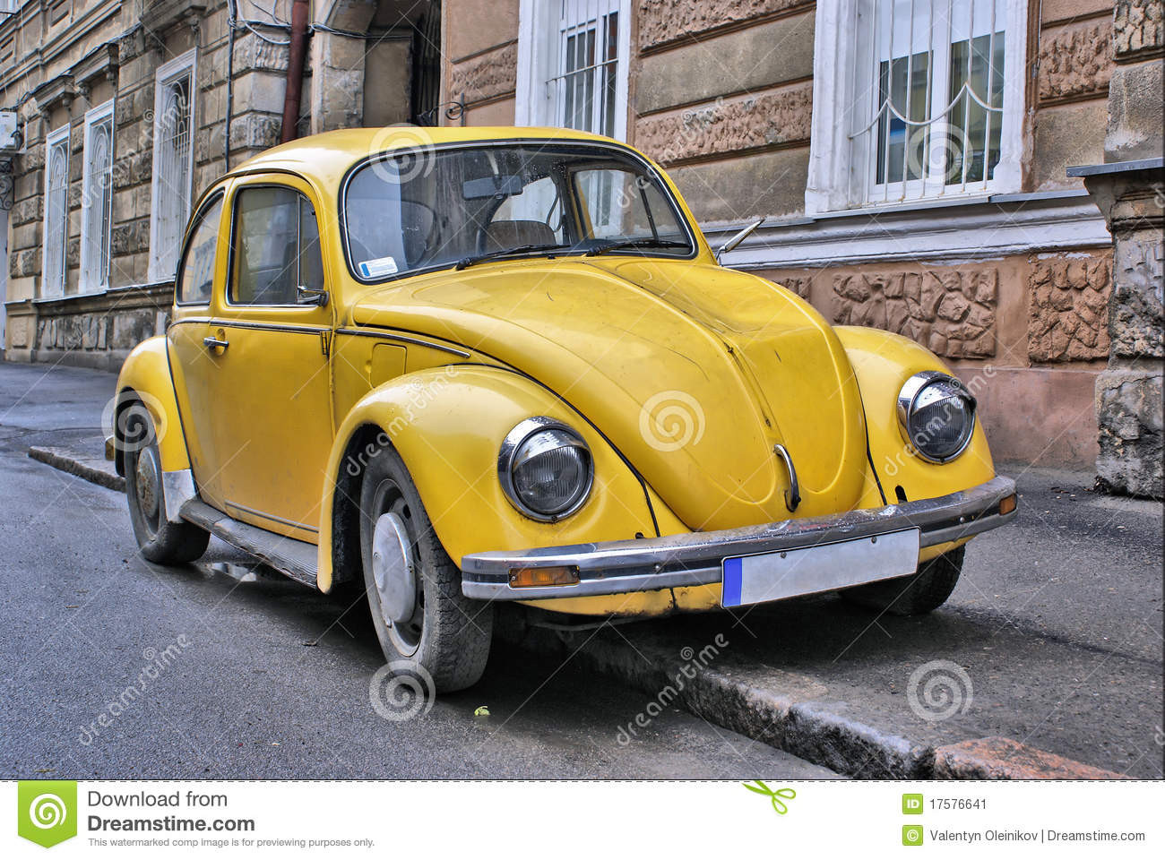 Yellow old car stock image. Image of revival, fasioned - 17576641
