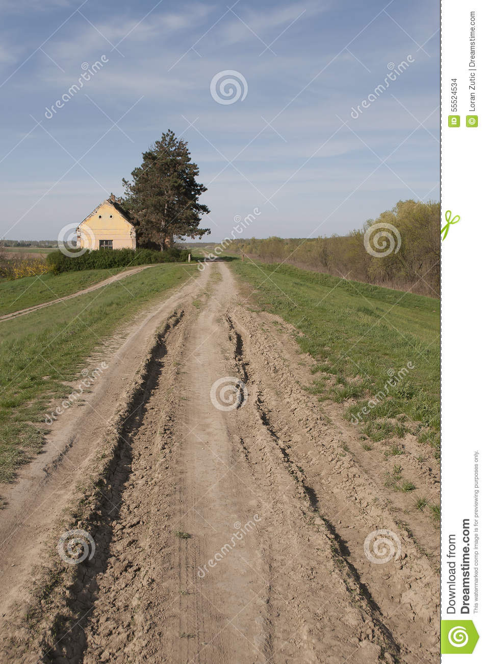 Home Time Road Roblox Id: Yellow Old Country House And Country Ground Road Stock