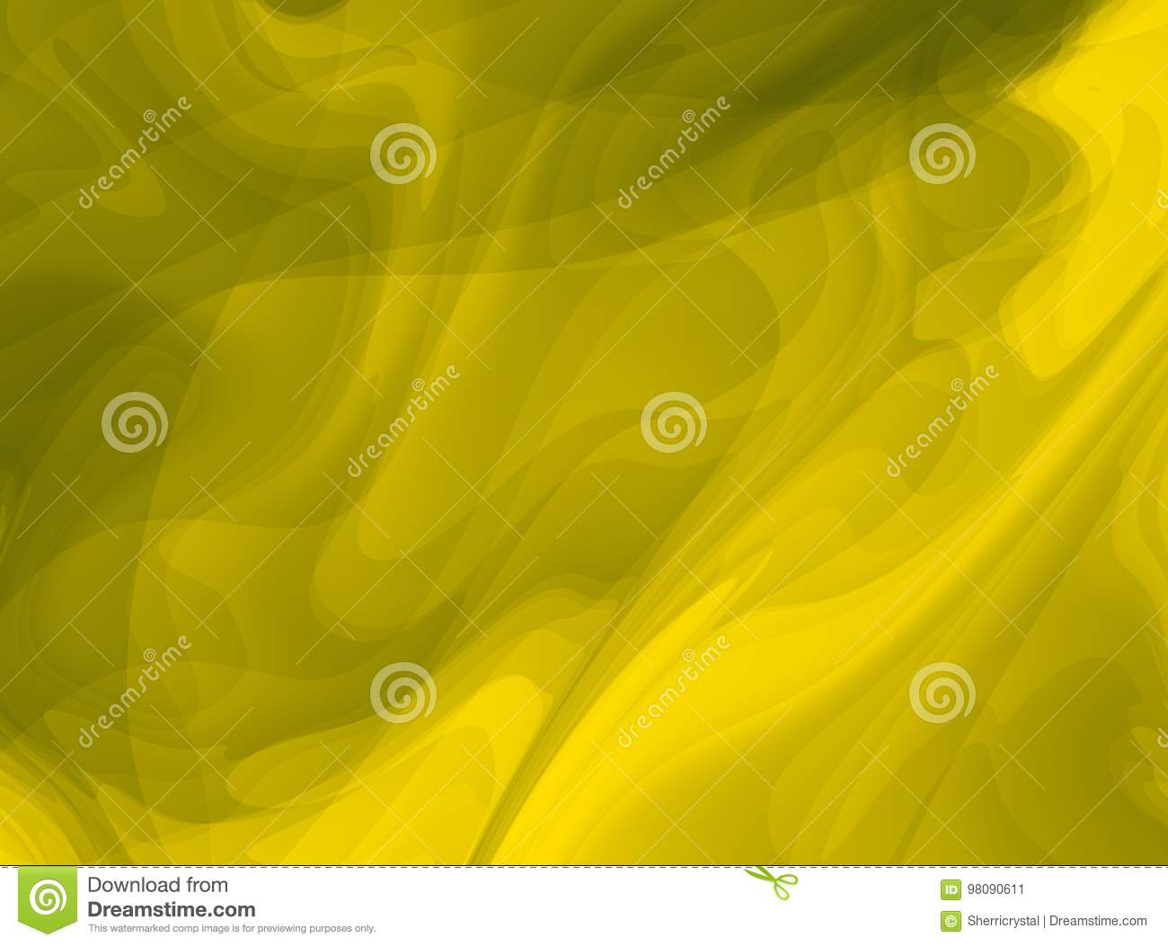 yellow olive green modern abstract fractal art bright background