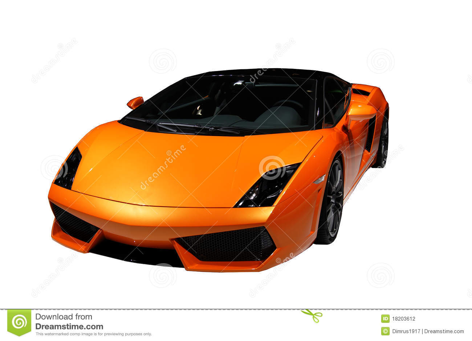Yellow Orange Sport Car Isolated Stock Photo Image Of Tourismo