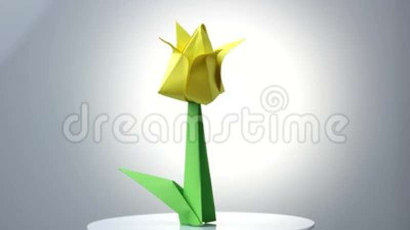 Yellow origami tulip flower stock video video of exhibition yellow origami tulip flower stock video video of exhibition garden 115550721 mightylinksfo
