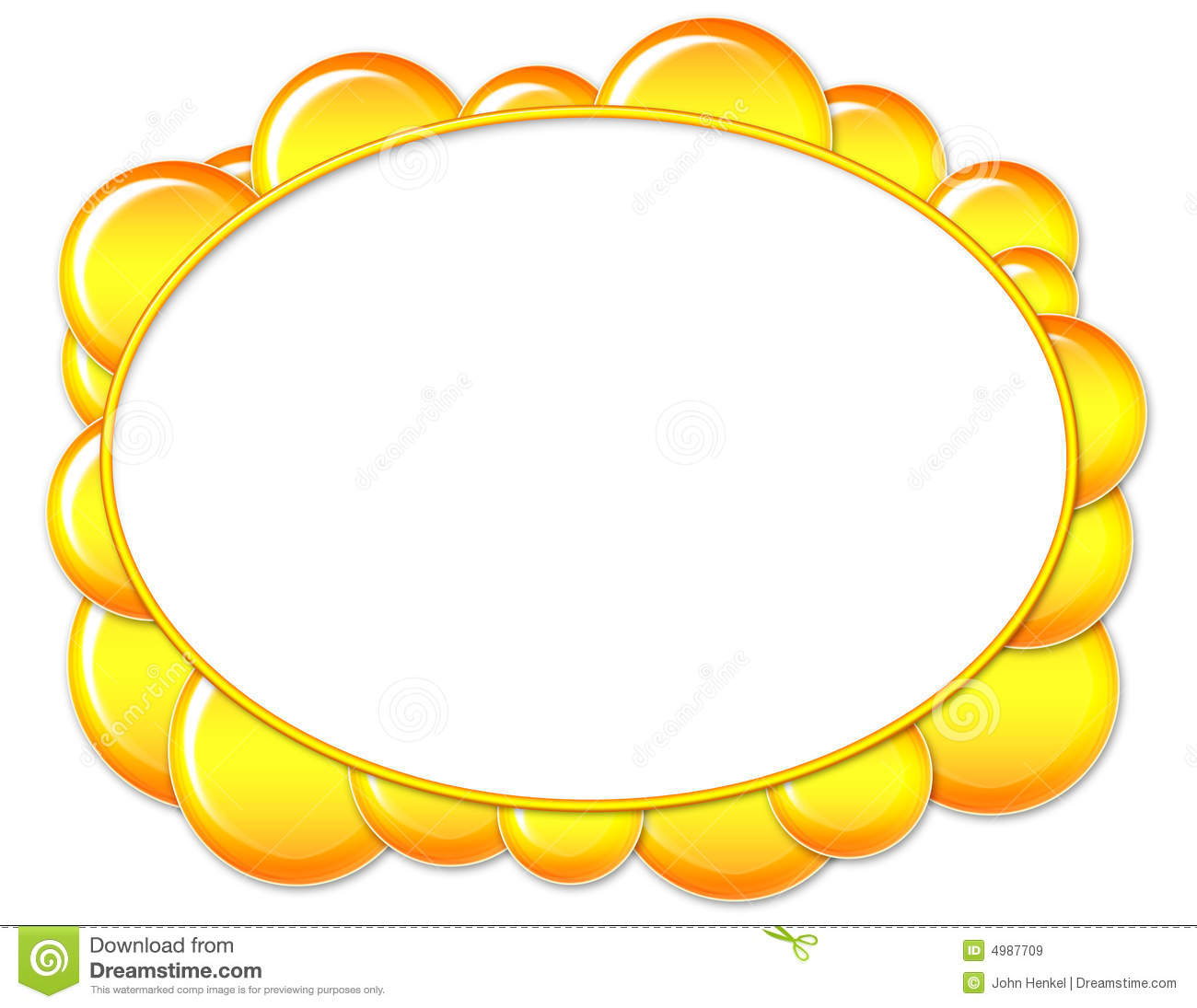 yellow oval bubble frame - Yellow Frame