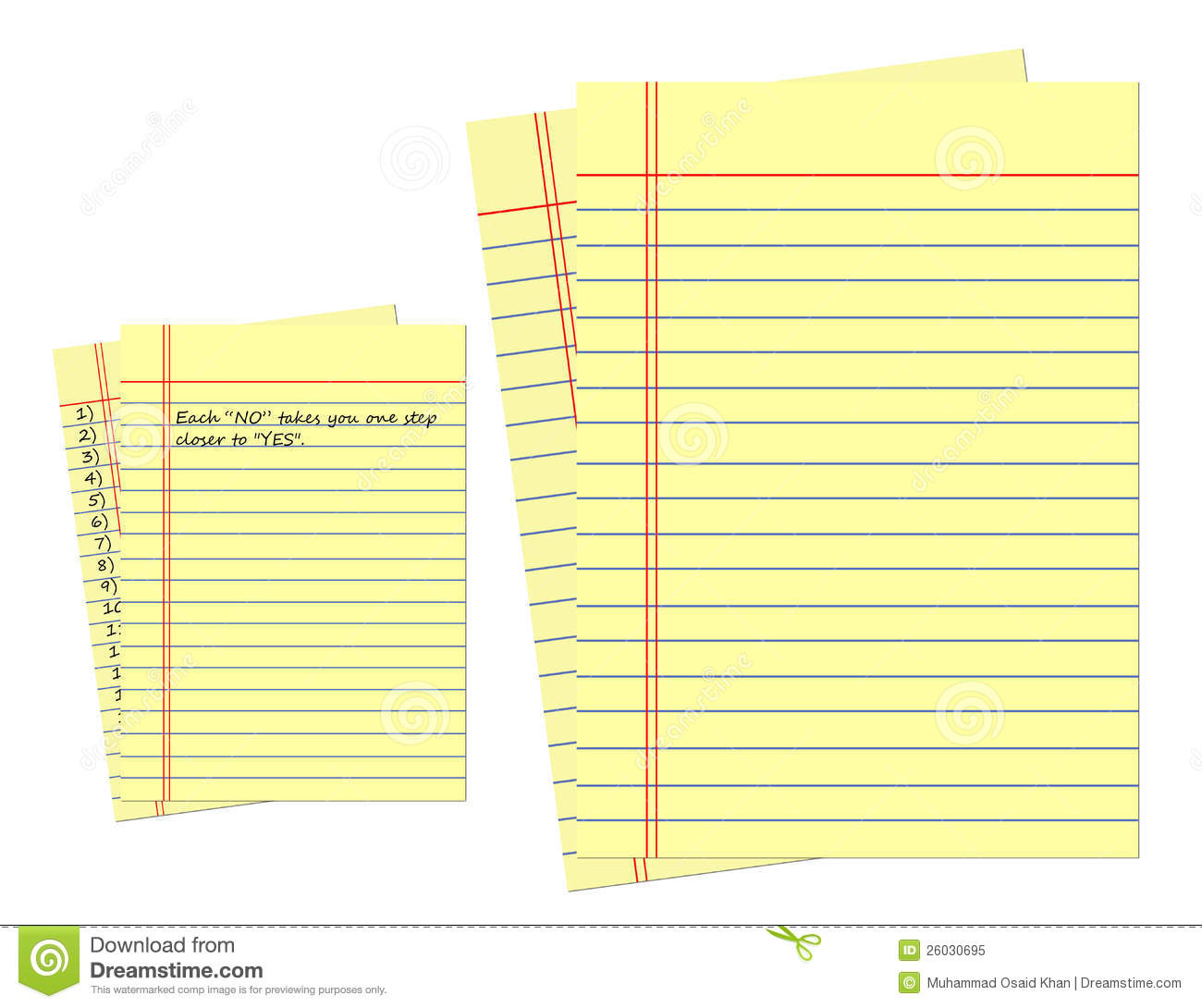 yellow page of legal pad stock image illustration of clip 26030695