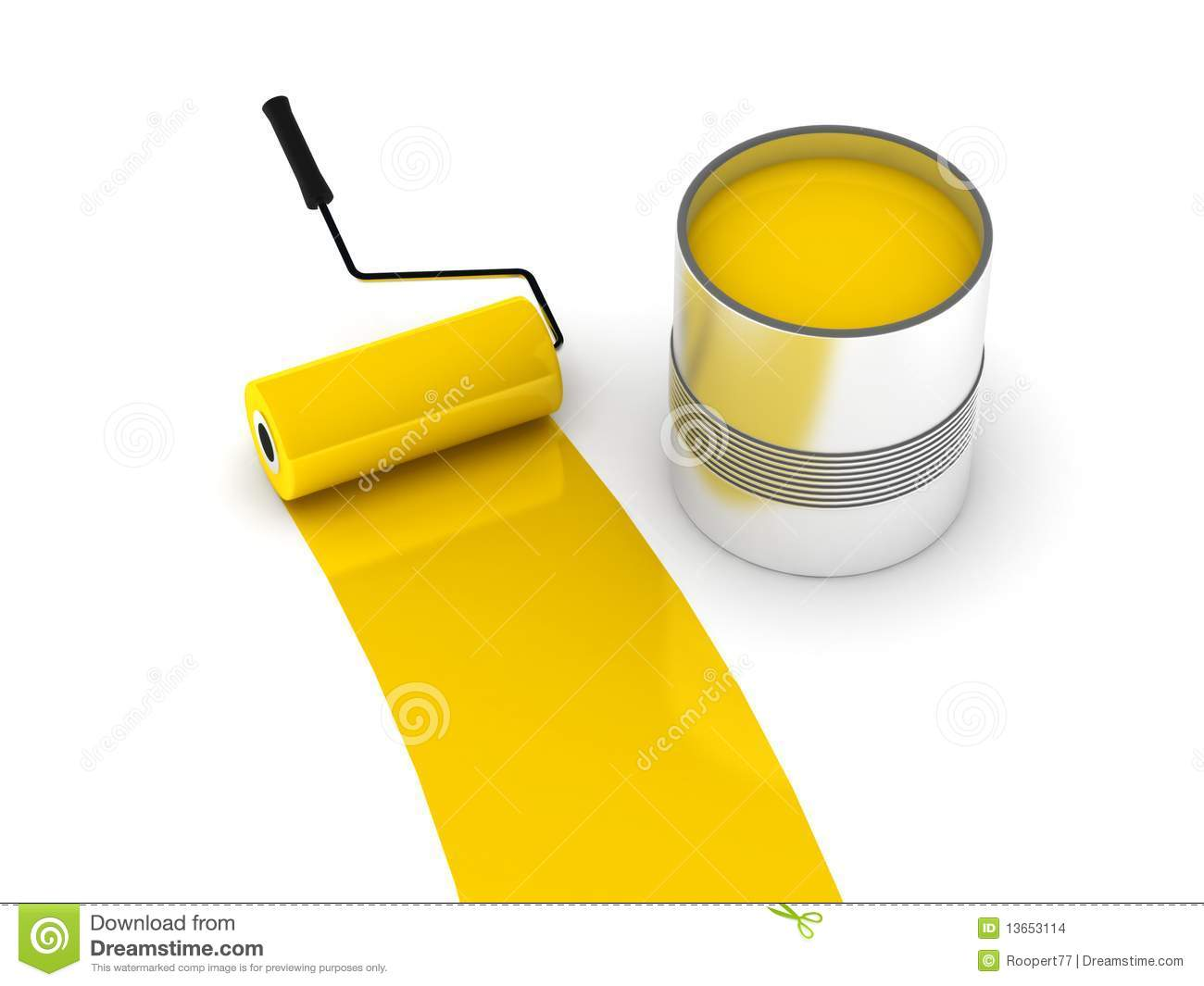 Yellow Paint Stock Illustration Illustration Of Color