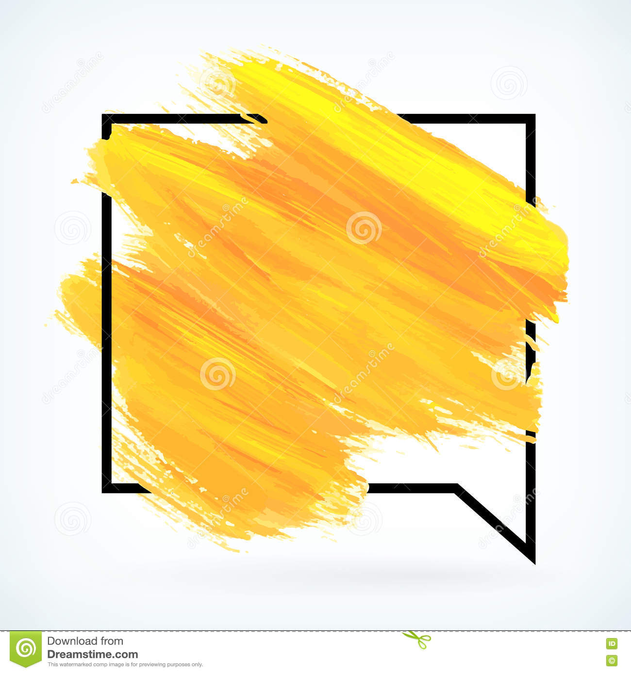 yellow paint artistic dry brush stroke vector background stock rh dreamstime com paint stroke texture vector red paint stroke vector