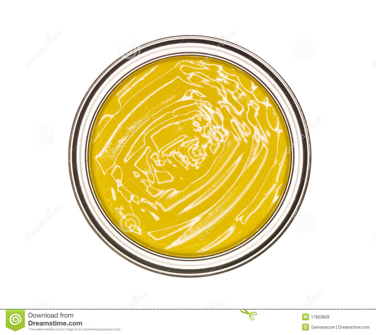 Yellow Paint Can Royalty Free Stock Photos - Image: 17803808