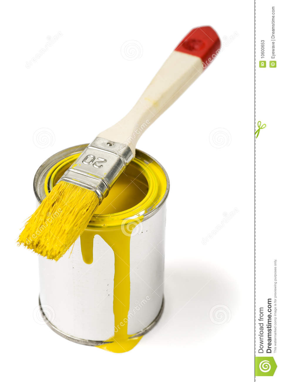 Yellow paint can and paintbrush stock photos image 10600653 for How to make yellow paint