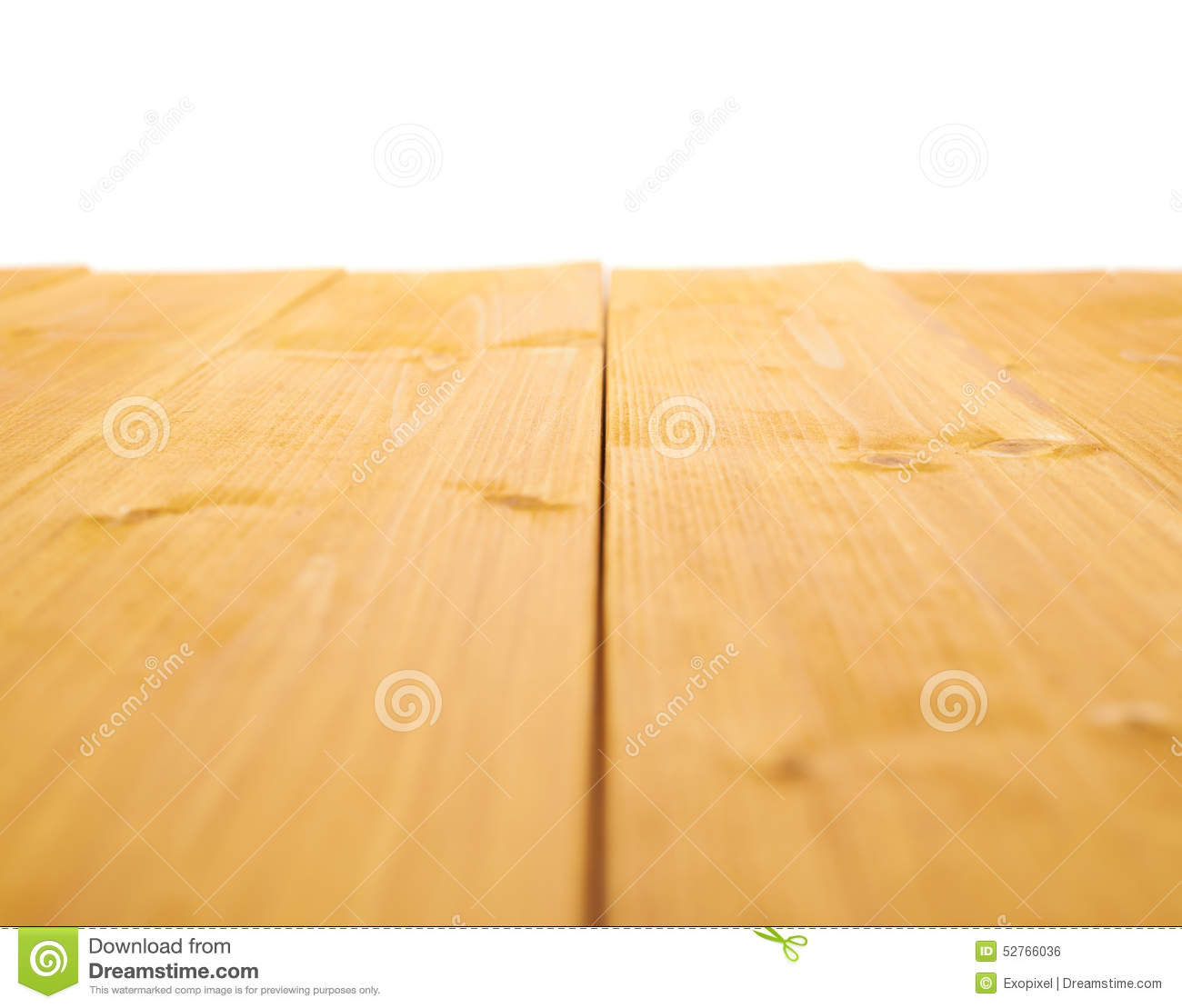 Yellow Paint Coated Wooden Boards Stock Photo