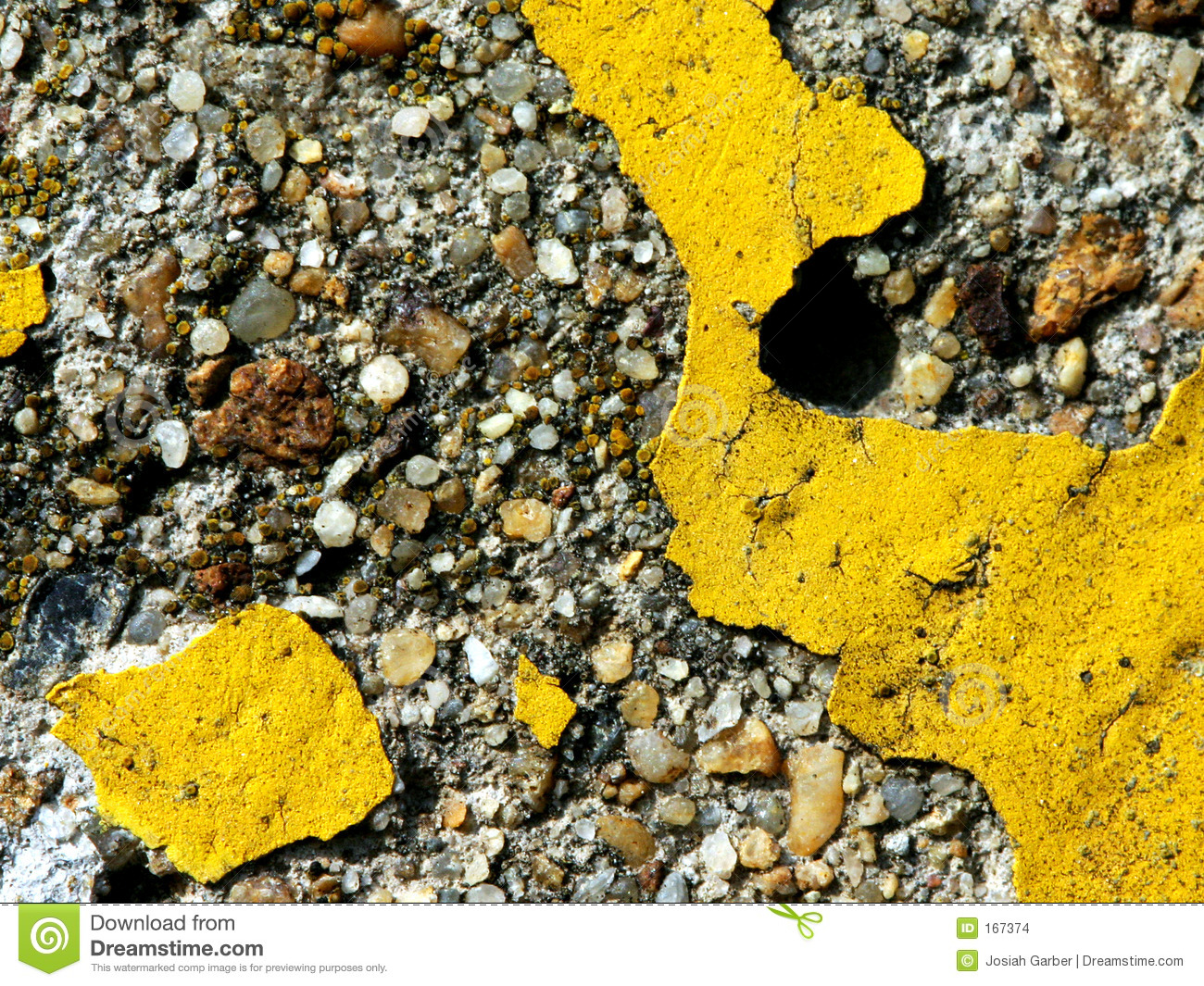 Yellow Paint on Concrete
