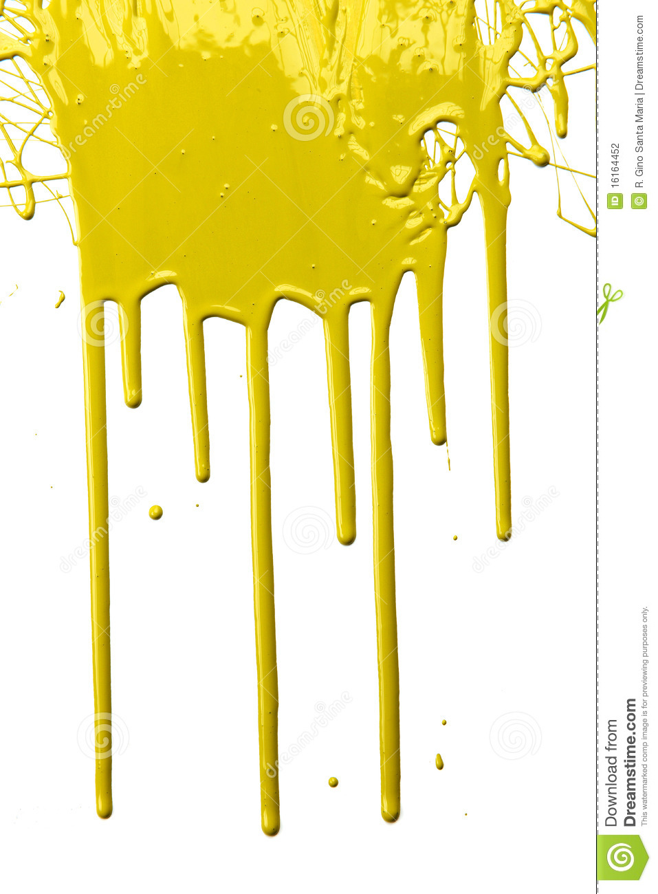 Yellow Paint Dripping stock photo. Image of droplet, drops ...