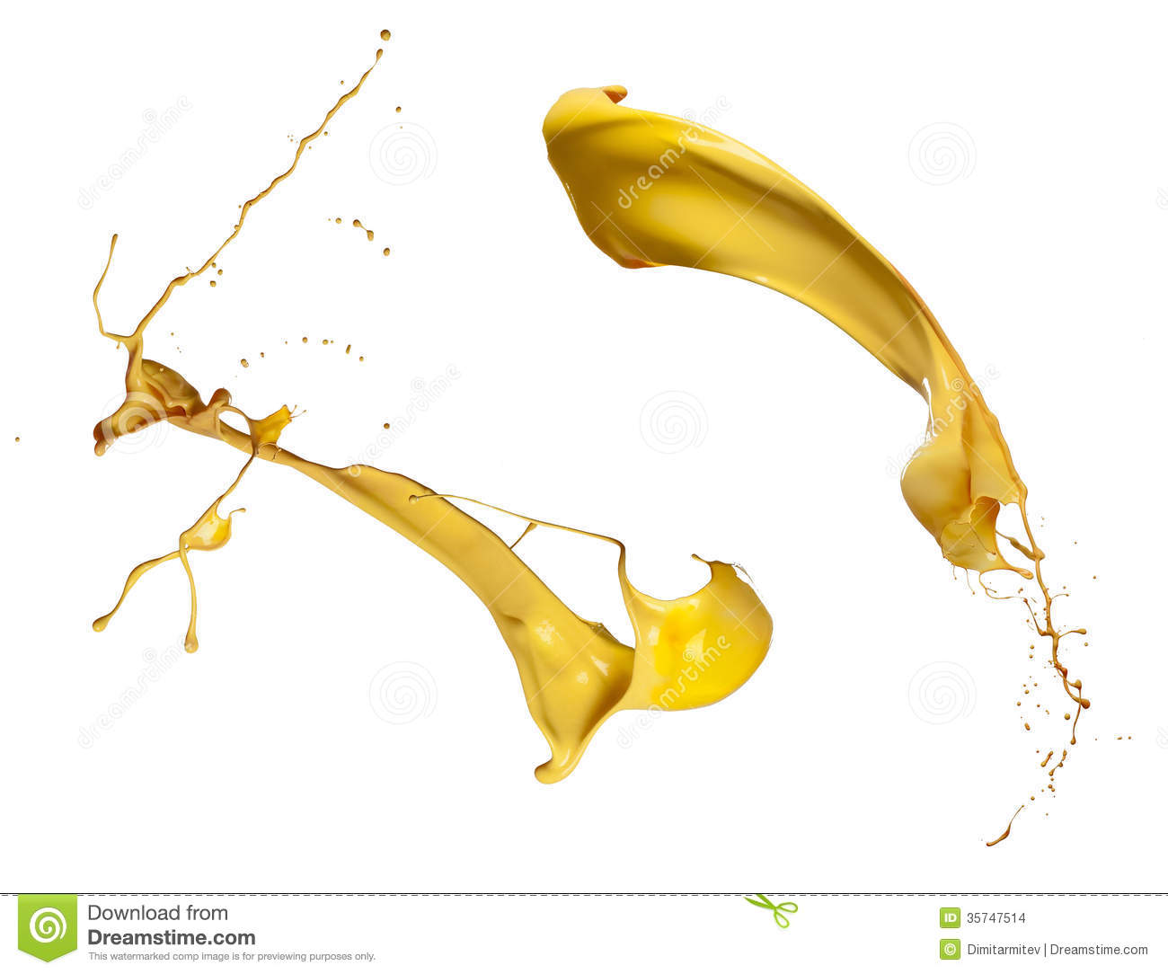 Yellow paint splash collection stock images image 35747514 for White paint going yellow