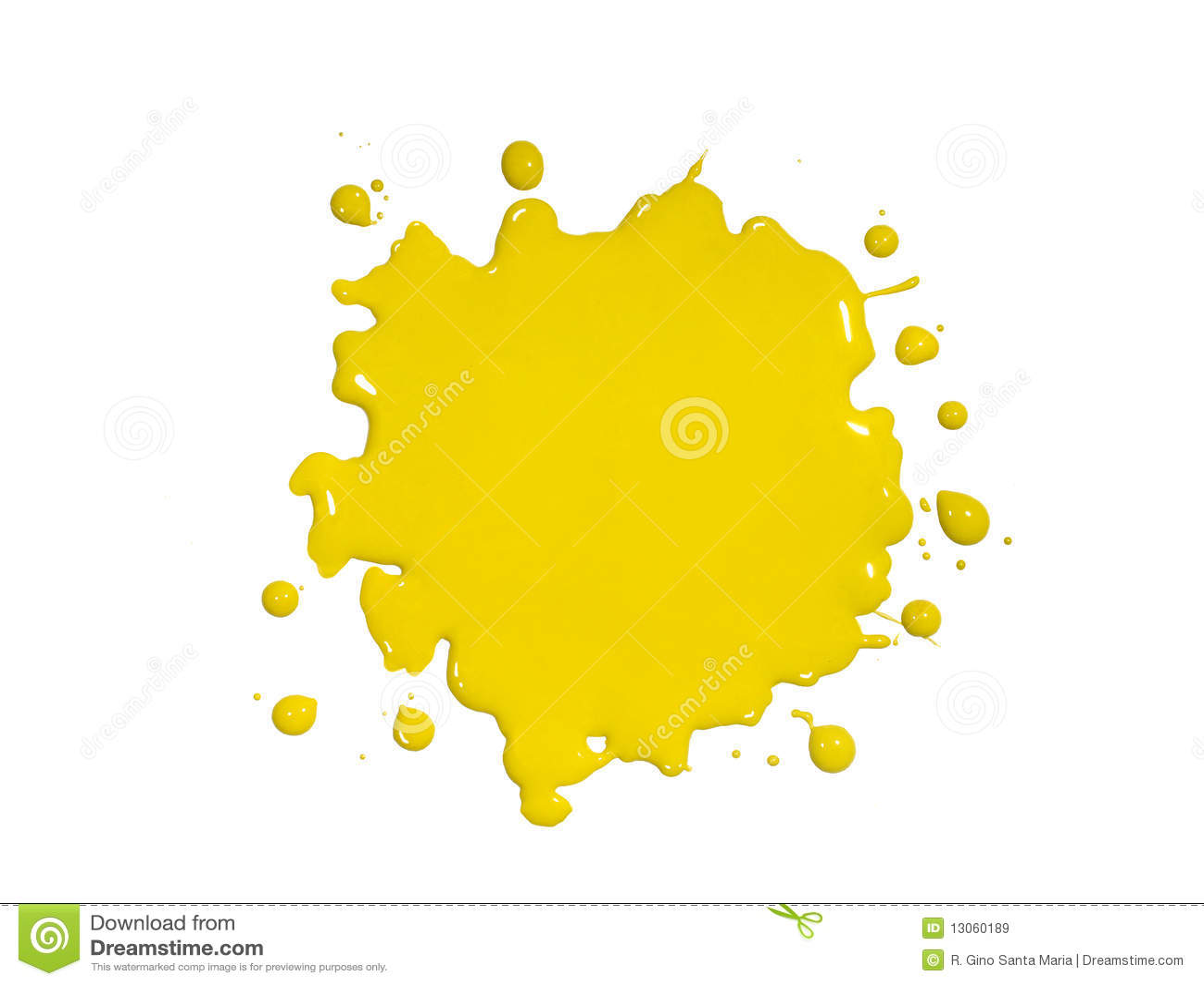 Yellow Paint Splatter