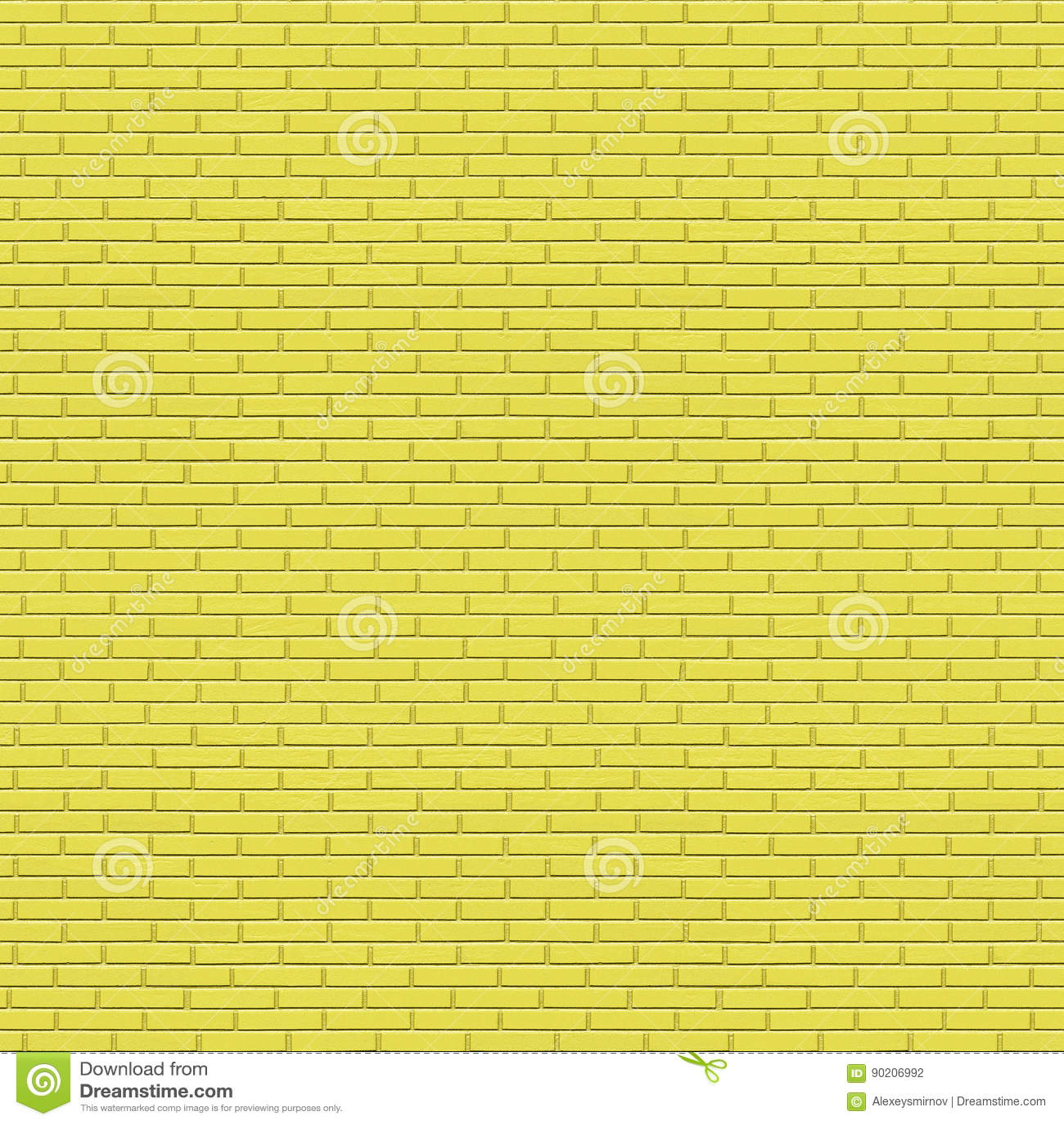 Yellow Painted Brick Wall Seamless Texture Stock Illustration ...