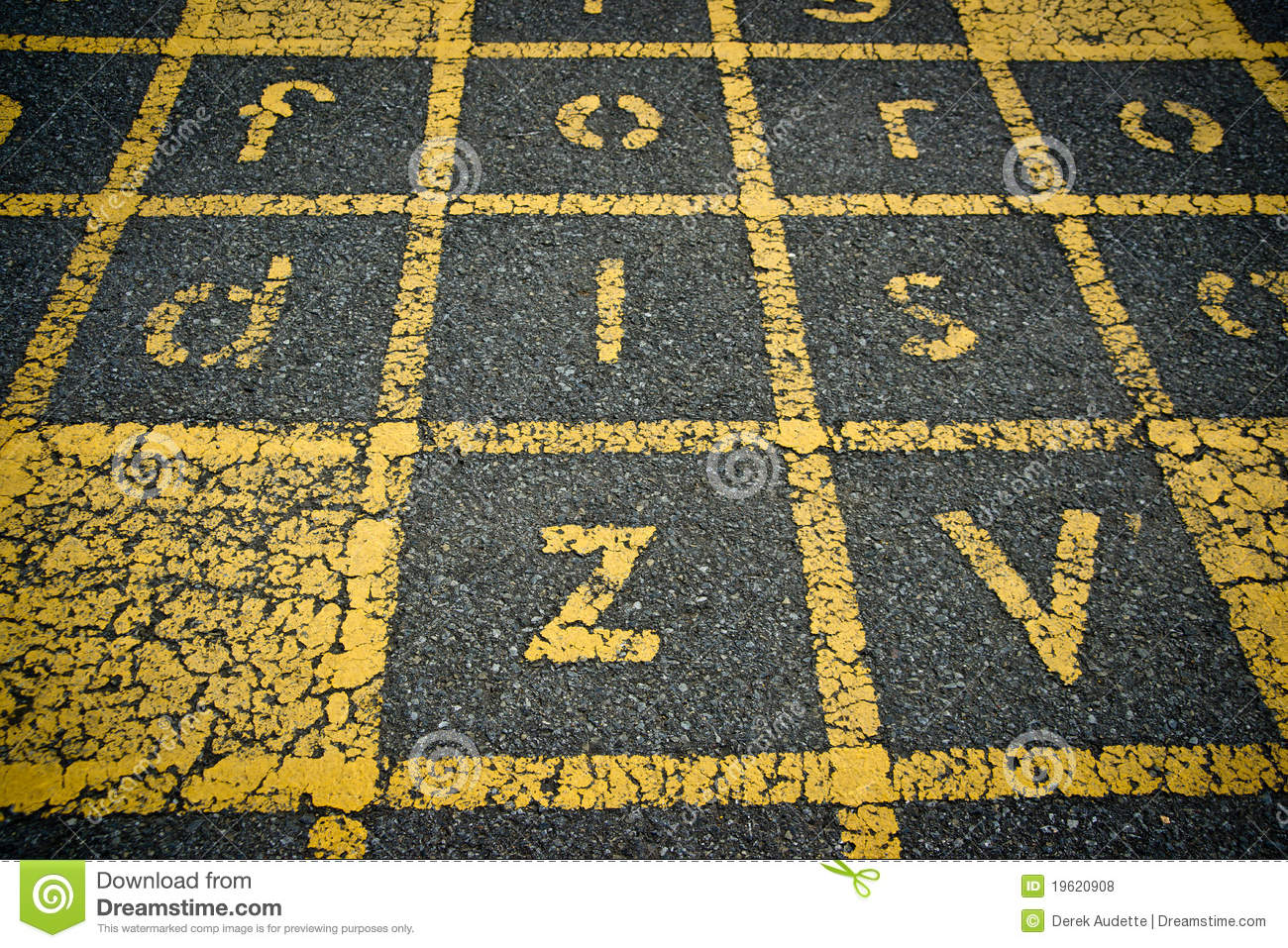 ... Painted Letters On Asphalt Royalty Free Stock Photos - Image: 19620908: dreamstime.com/royalty-free-stock-photos-yellow-painted-letters...