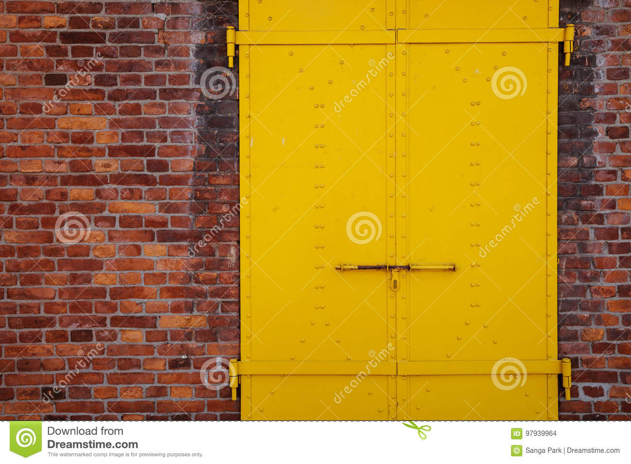 Closed Modern Red Exterior Door Of A Home Royalty Free