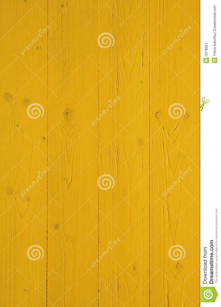 Yellow painted wooden wall