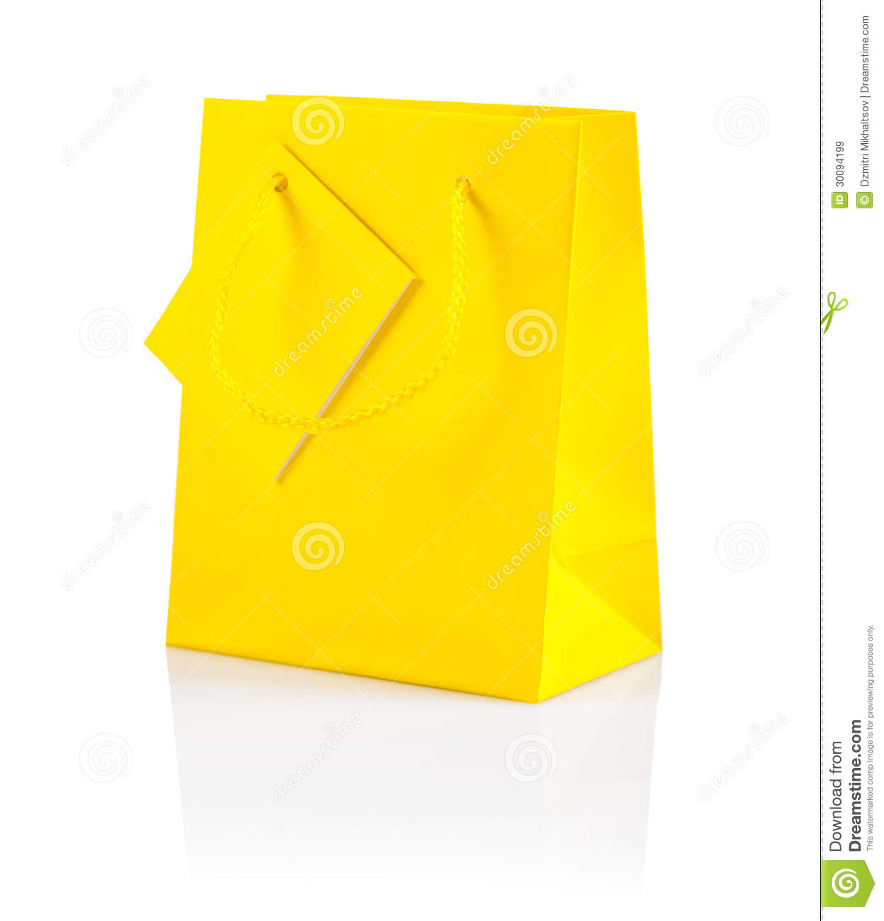 Paper bag yellow - Yellow Paper Bag Isolated