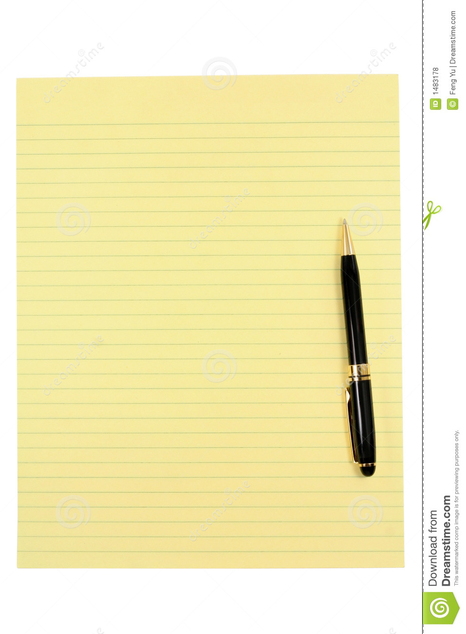 Yellow Paper And Pen Royalty Free Stock Photos Image