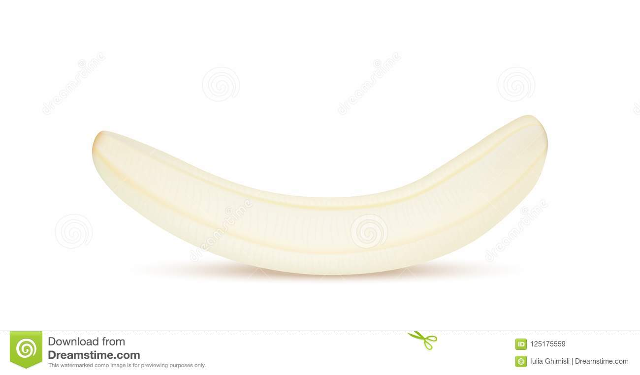 Yellow Peeled Banana Without Skin Realistic 3d Banana Detailed