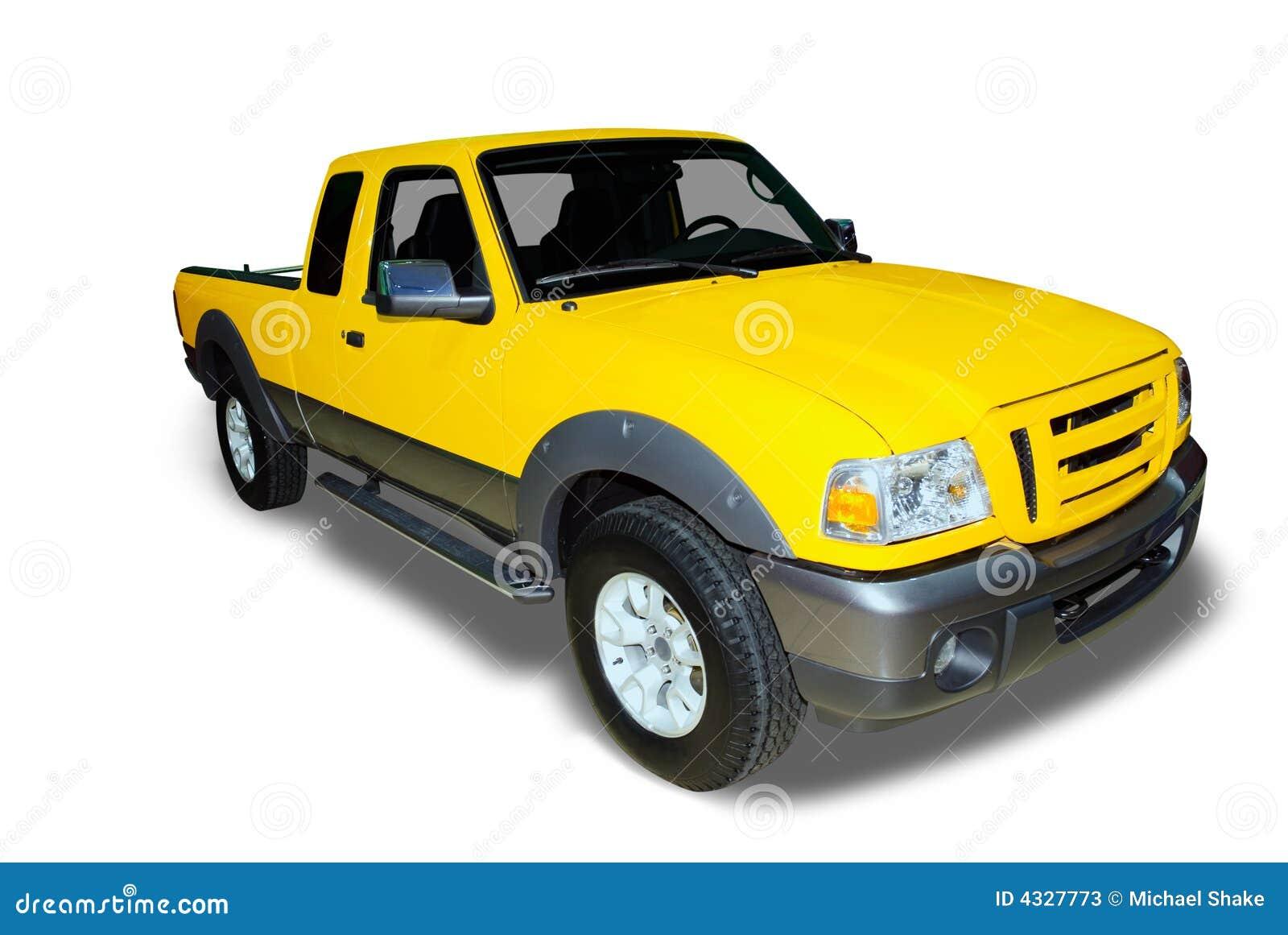 Yellow Pick Up Truck Stock Photos Image 4327773