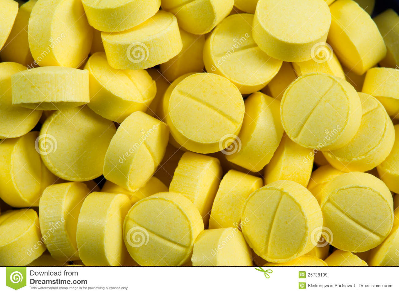 Yellow Pill Close Up Shot Royalty Free Stock Images