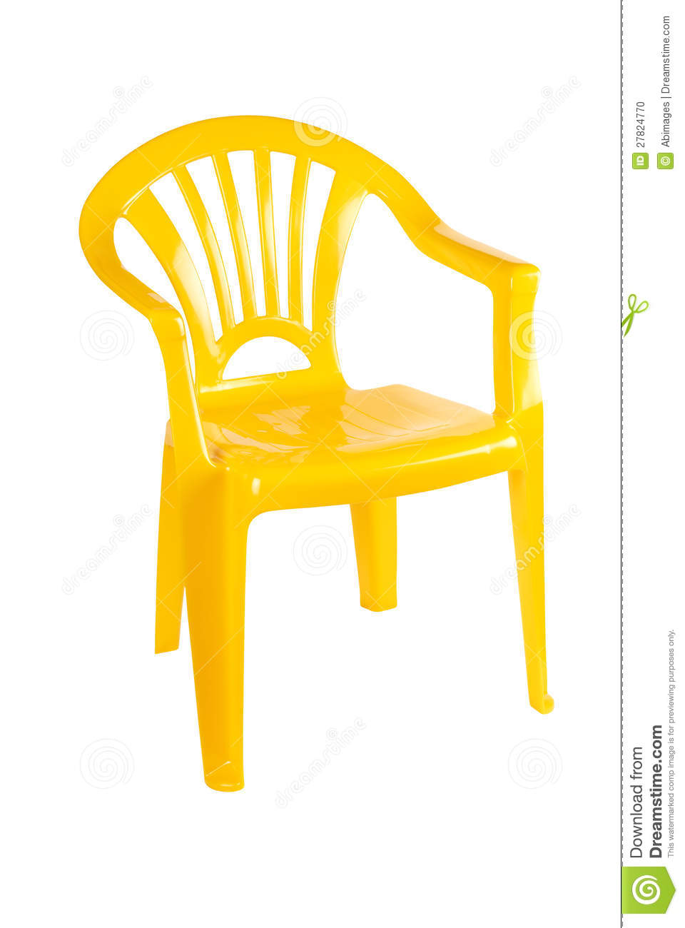 Yellow Plastic Chair Stock Photo Image Of Chair Seating